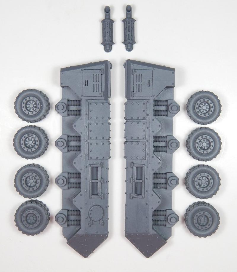 Pisces 8x8 Wheeled Conversion Kit - Components
