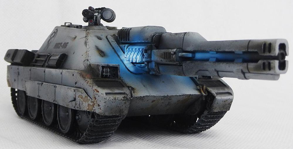 Dreamforge, Glow, Ironcore, Object Source Lighting, Science-fiction, Tank, Tank Hunter, Weathered