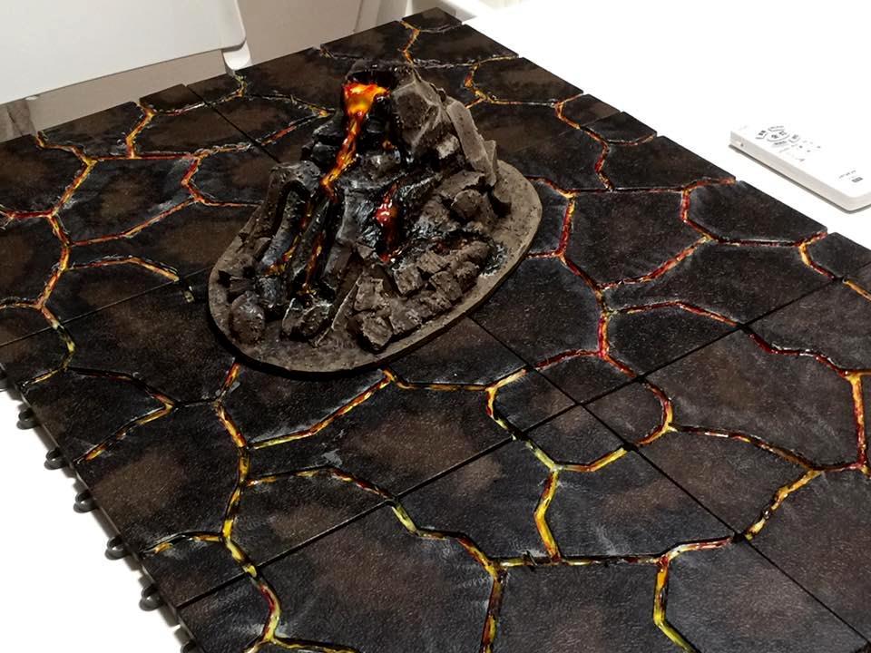 Terrain, Volcano, Home made terrain