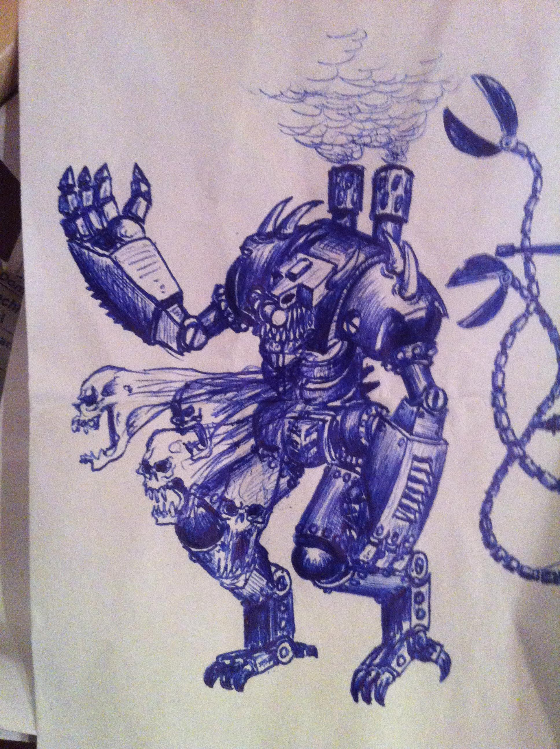Cryx, Drawing, Machine, Mech, Warjack, Warmachine