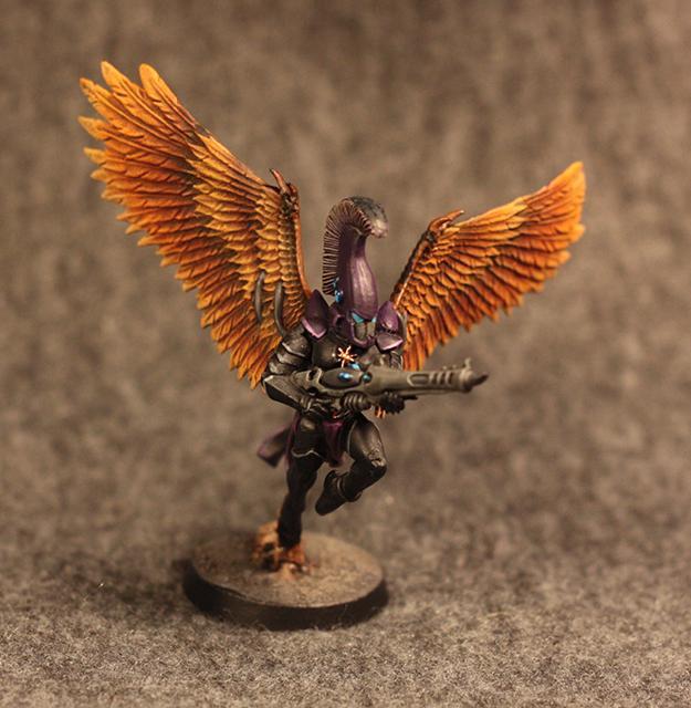 Aeldari, Aspect Warrior, Conversion, Craftworlds, Eldar, Scourge, Swooping Hawks, Ulthwe, Warhammer 40,000