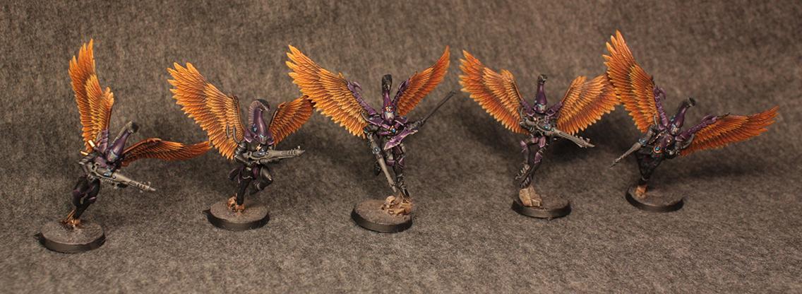 Aeldari, Aspect, Black, Eldar, Scourge, Swooping Hawks, Ulthwe, Warhammer 40,000, Winged
