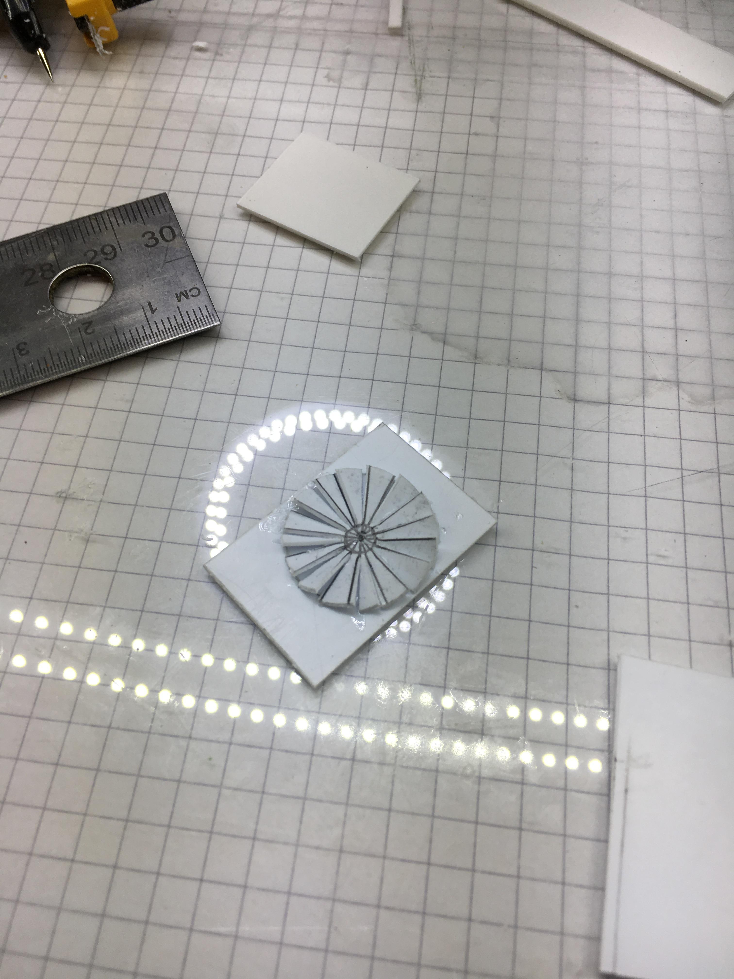 glued on card
