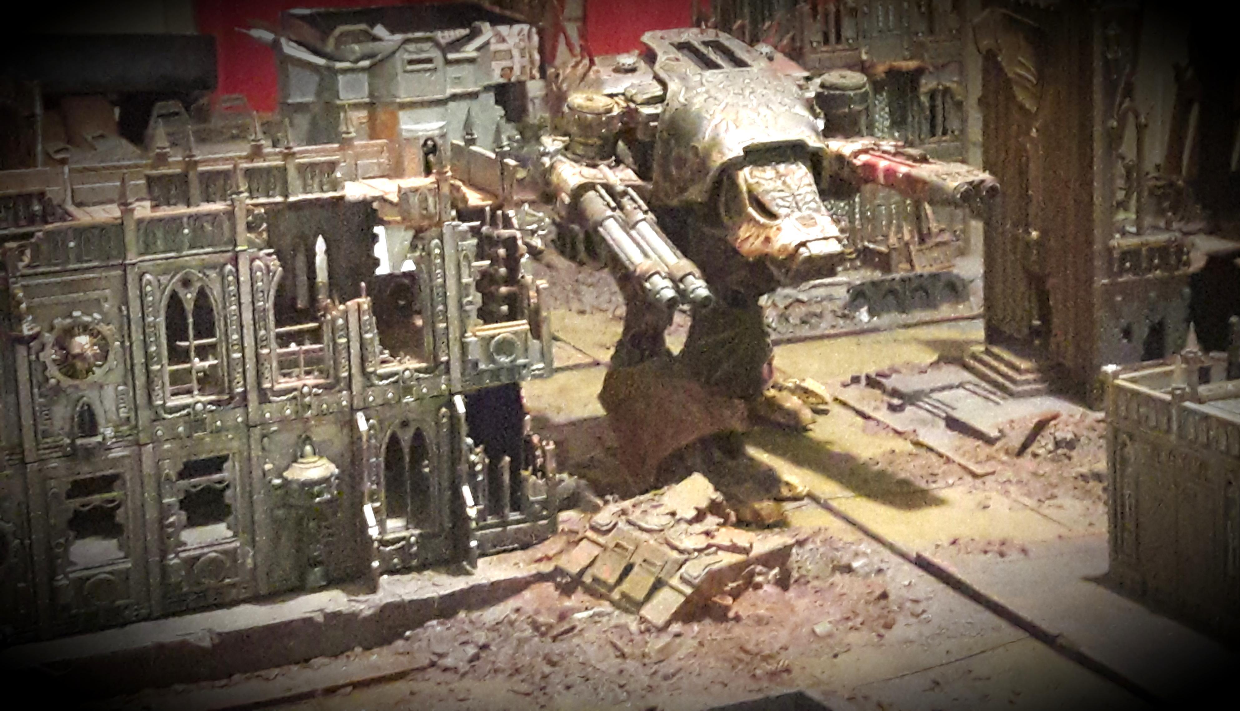 Chaos, Legio Mortis, Nurgle, Titan, Warhammer 40,000, Warhound