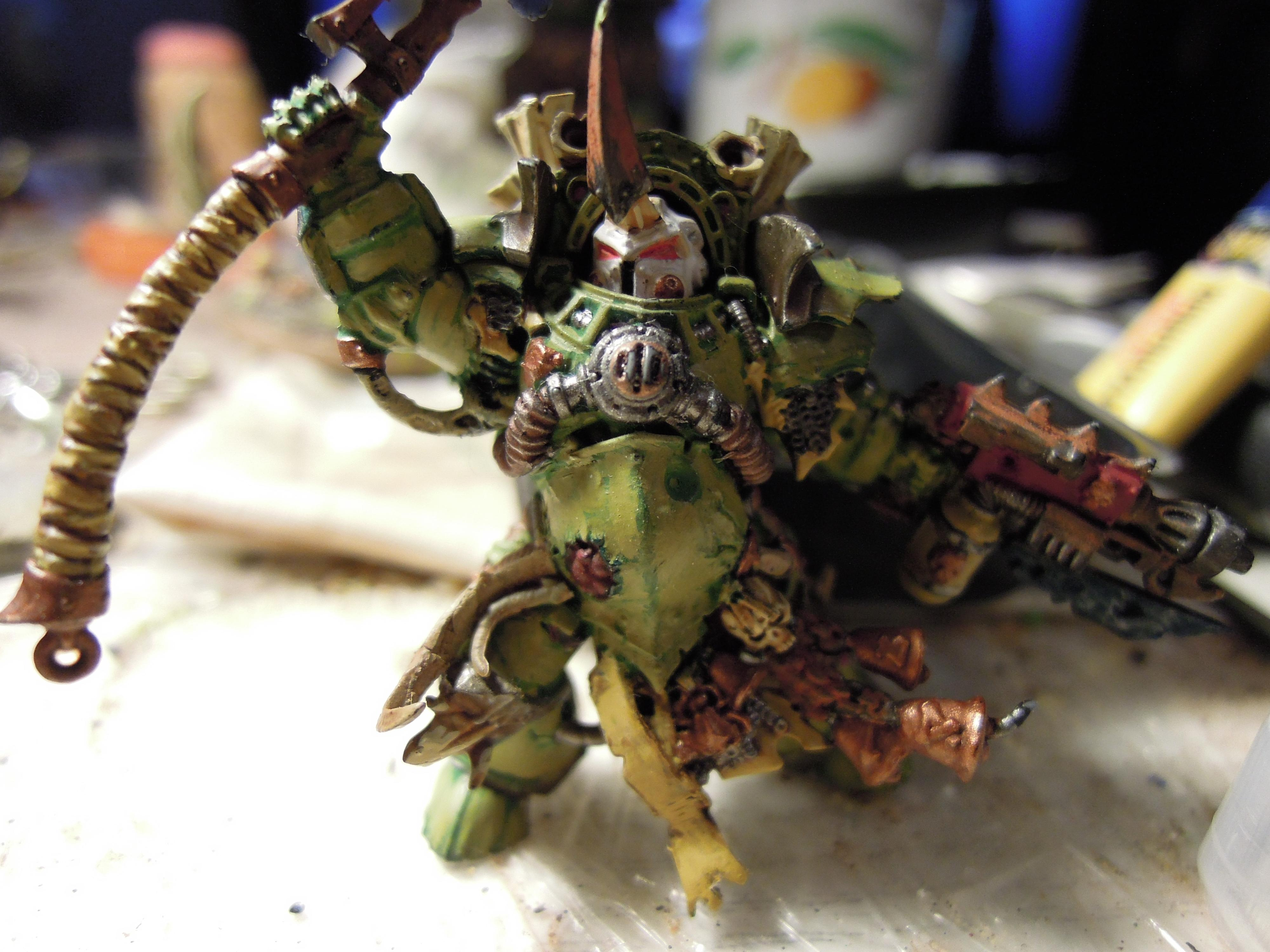 Blight, Cataphract, Chaos, Chaos Space Marines, Combi Weapon, Conversion, Death Guard, Decay, Destroyer Hive, Disease, Heretic Astartes, Nurgle, Pestilence, Plague, Plague Marines, Rot, Scythe, Terminator Armor, Traitor Legions, Typhus, Warhammer 40,000, Work In Progress
