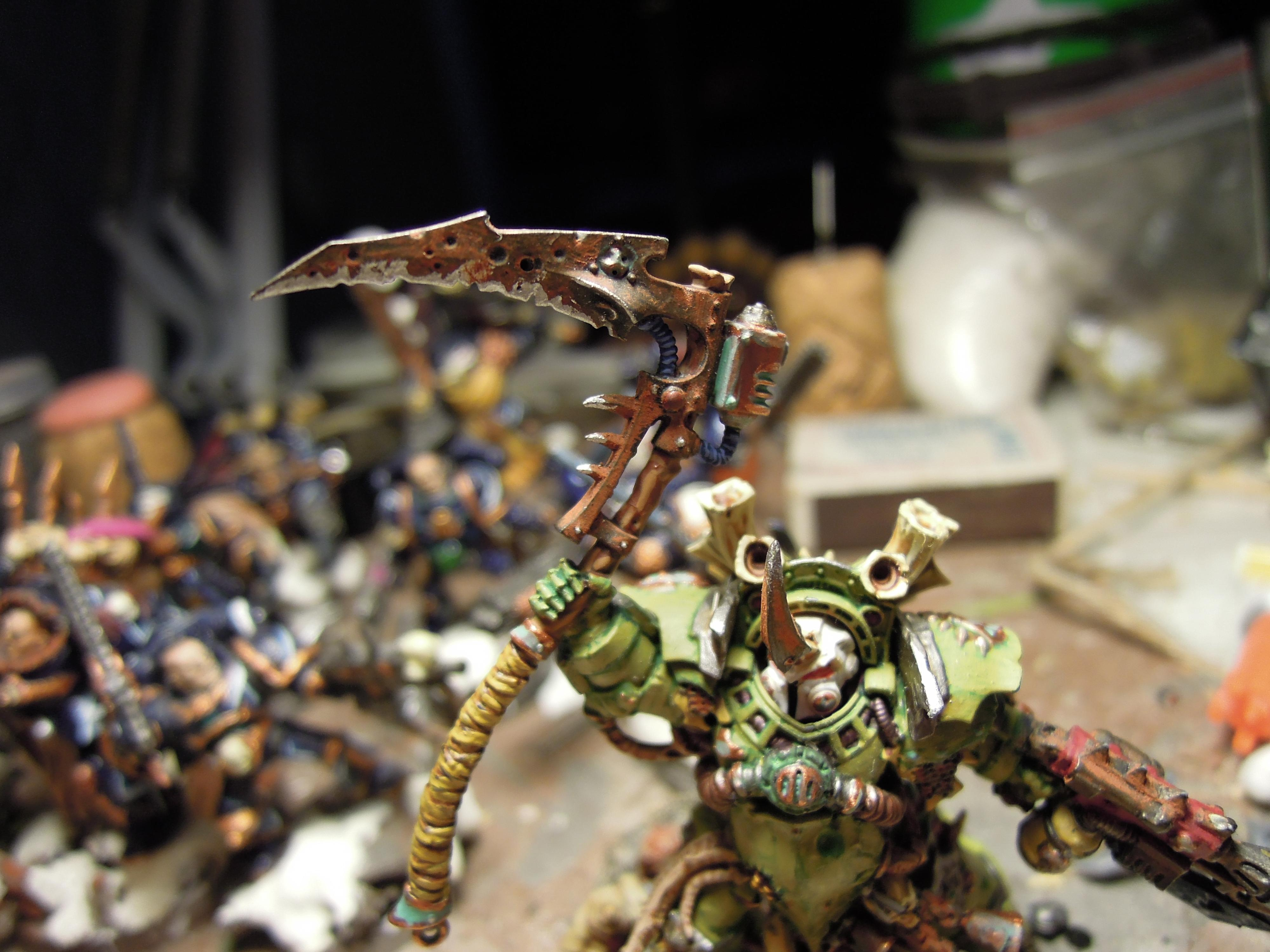 Blight, Cataphract, Chaos, Chaos Space Marines, Combi Weapon, Conversion, Death Guard, Destroyer Hive, Disease, Guts, Heretic Astartes, Pestilence, Plague, Plague Marines, Rot, Scythe, Terminator Armor, Typhus, Warhammer 40,000