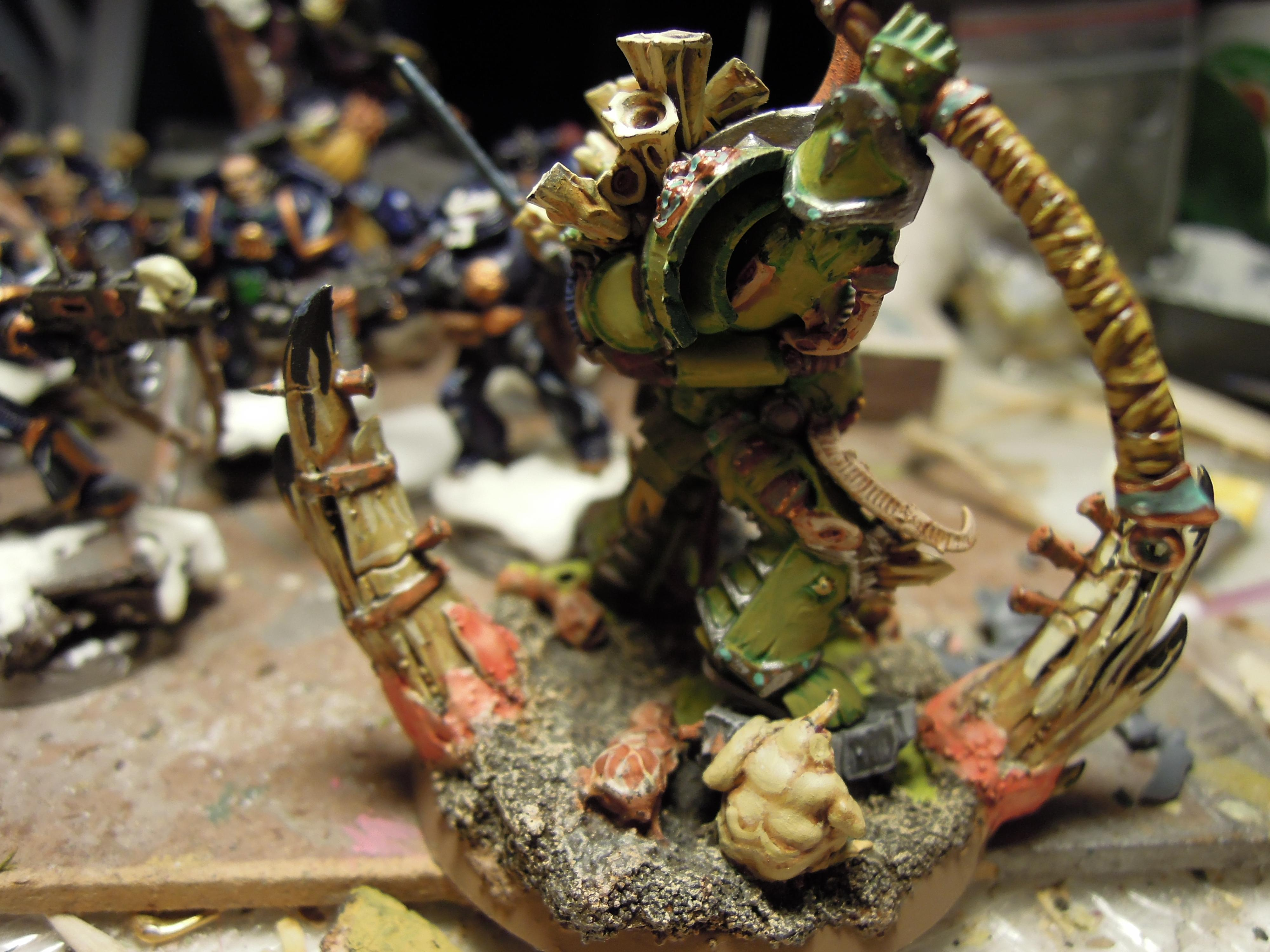 Blight, Cataphract, Chaos, Chaos Space Marines, Combi Weapon, Conversion, Death Guard, Destroyer Hive, Disease, Guts, Heretic Astartes, Nurgling, Pestilence, Plague, Plague Marines, Rot, Scythe, Terminator Armor, Typhus, Warhammer 40,000
