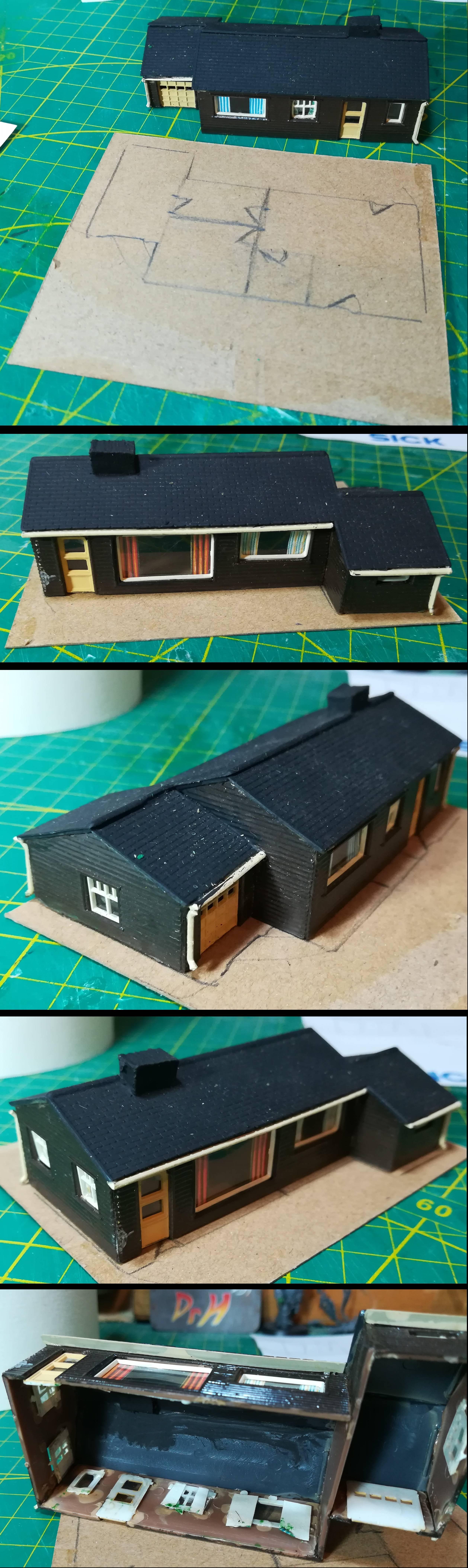 N-gauge bungalow wip 1