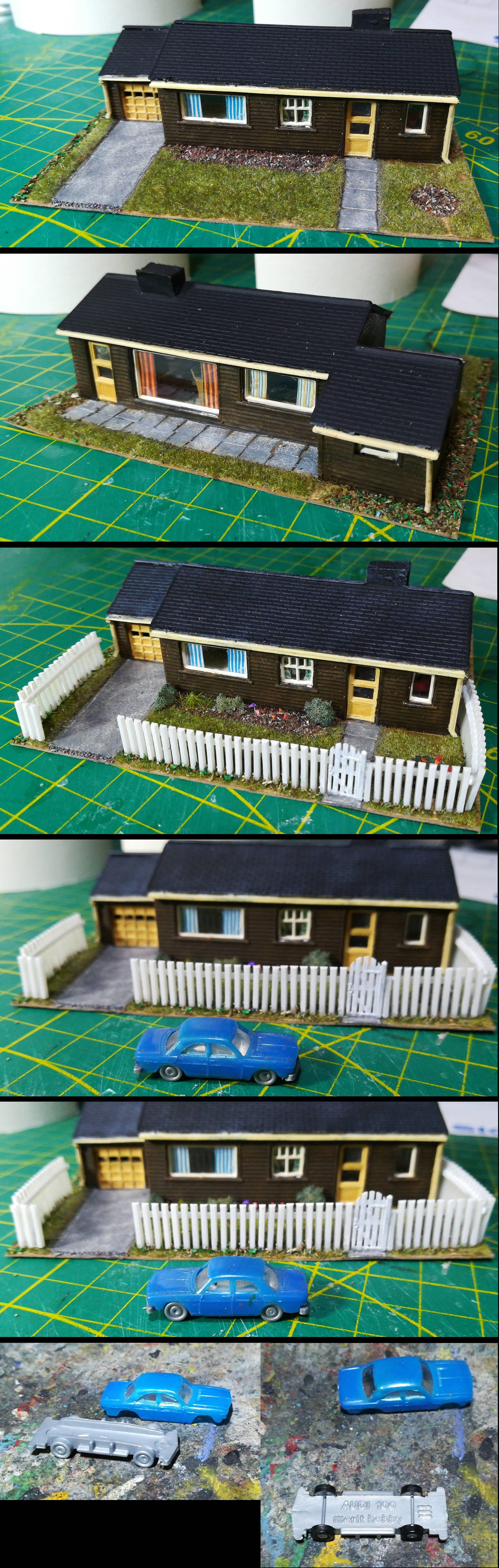 House, Modern, N Scale, Railroad