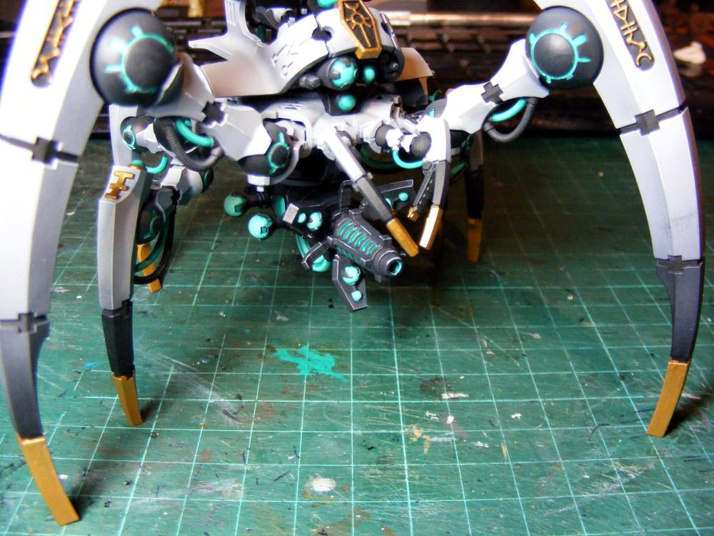 Necron triarch weapon painted