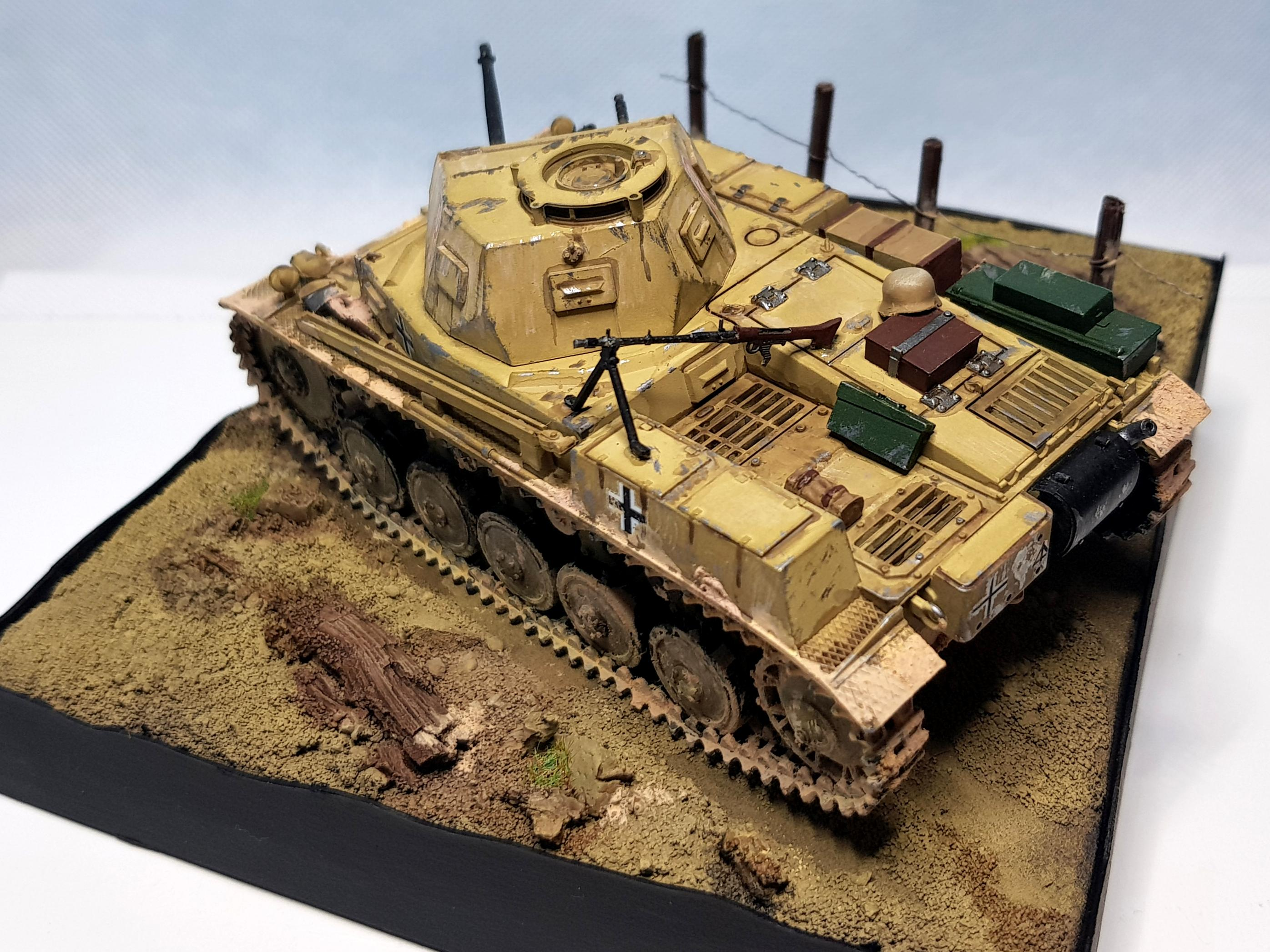 Afrika Korps, Allies, Armor, Axis, Diorama, Light Tank, Modern Warfare, Painting Challenge, Panzer, Scale, Scale Model, Tank, World War 2