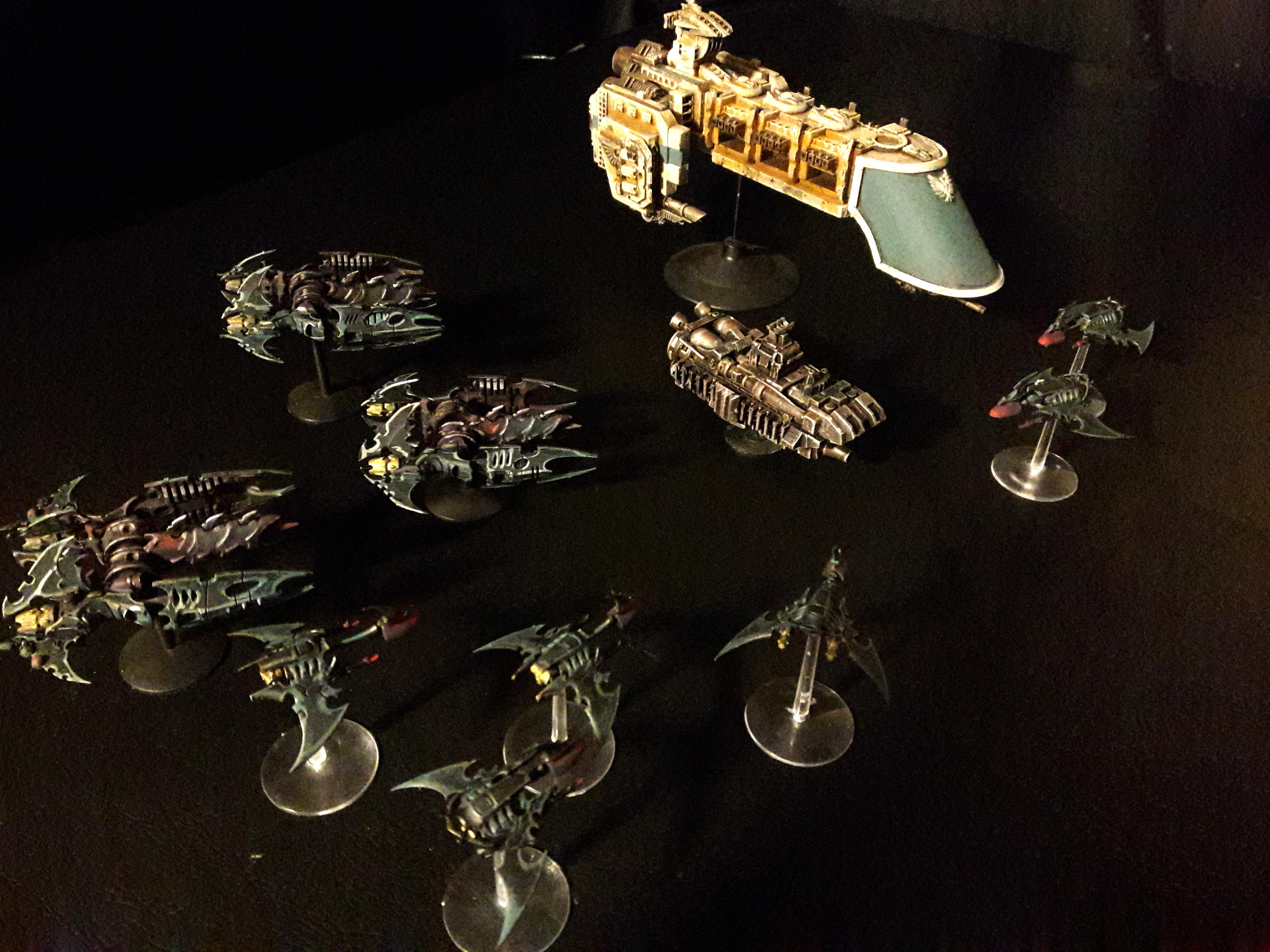 Battlefleet Gothic, Dark Eldar, Large Scale, Rogue Trader, Scratch Build