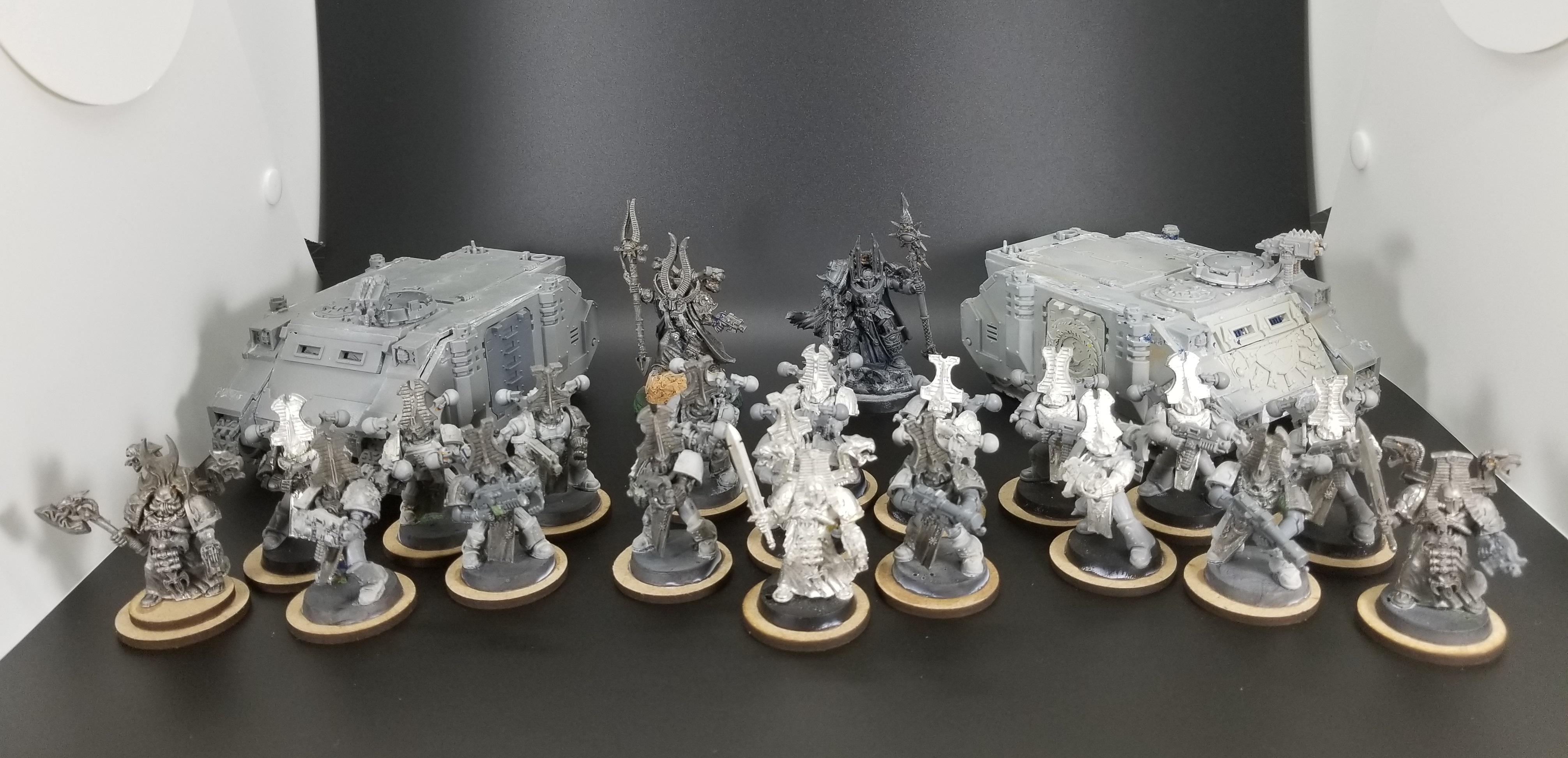 Ahriman, Chaos, Lord, Rhino, Rubric Marines, Thousand Sons, Tzeentch, Work In Progress