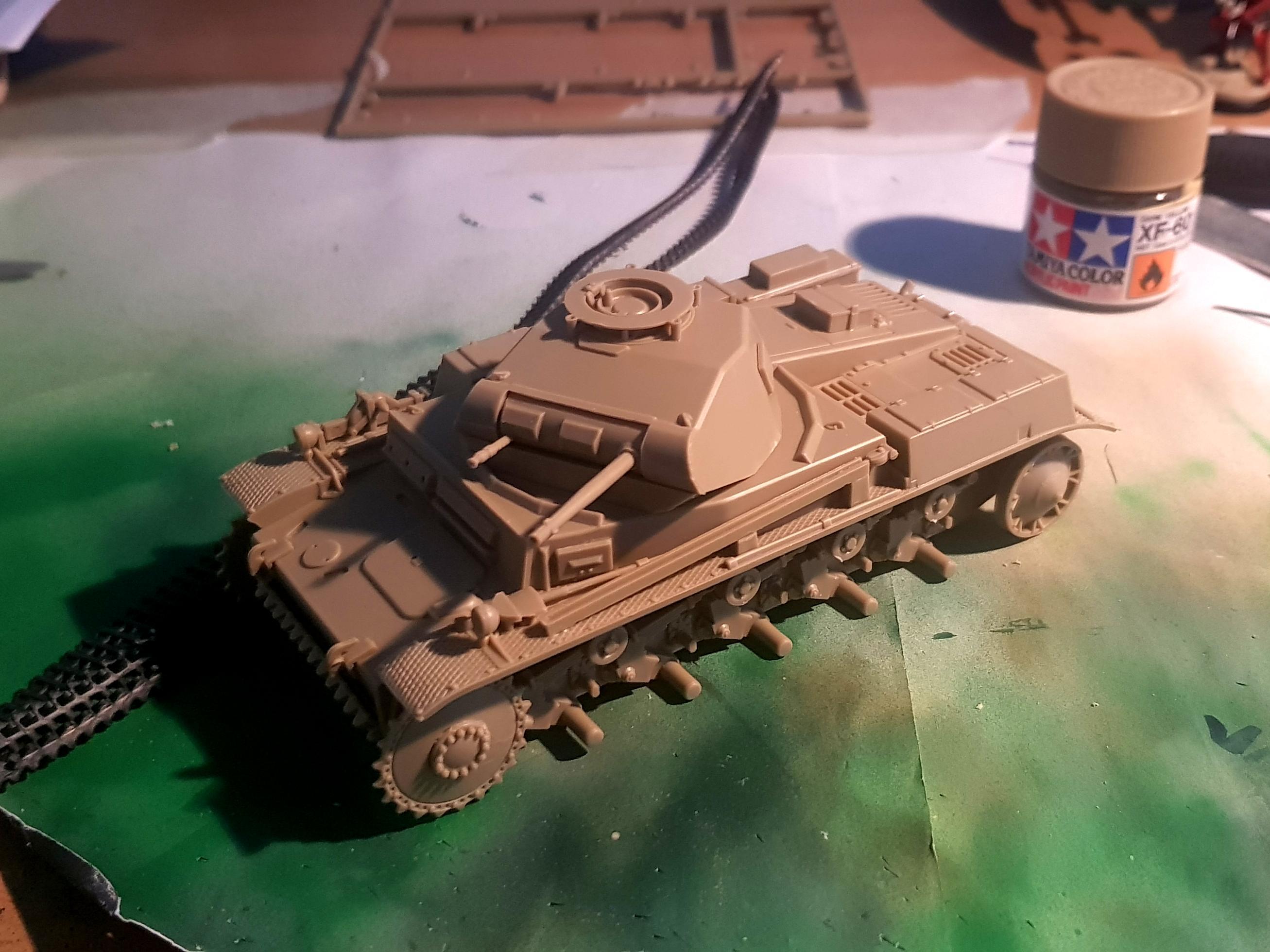 Panzer II assembled