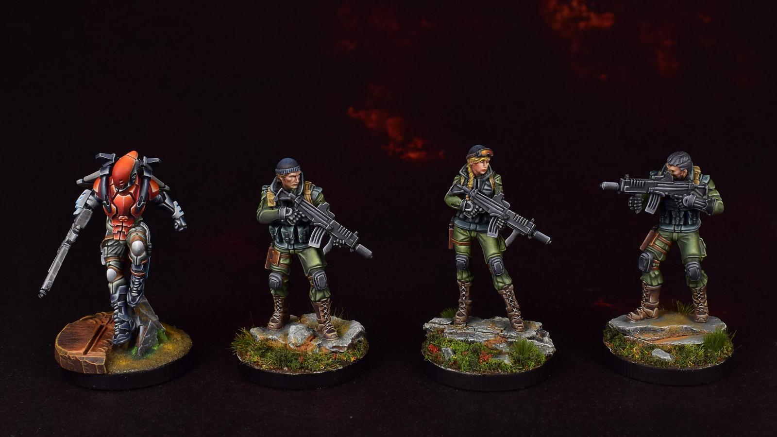 Ariadna, Hellcat, Infinity, Line Kazaks, Nomads, Tartary Army Corps