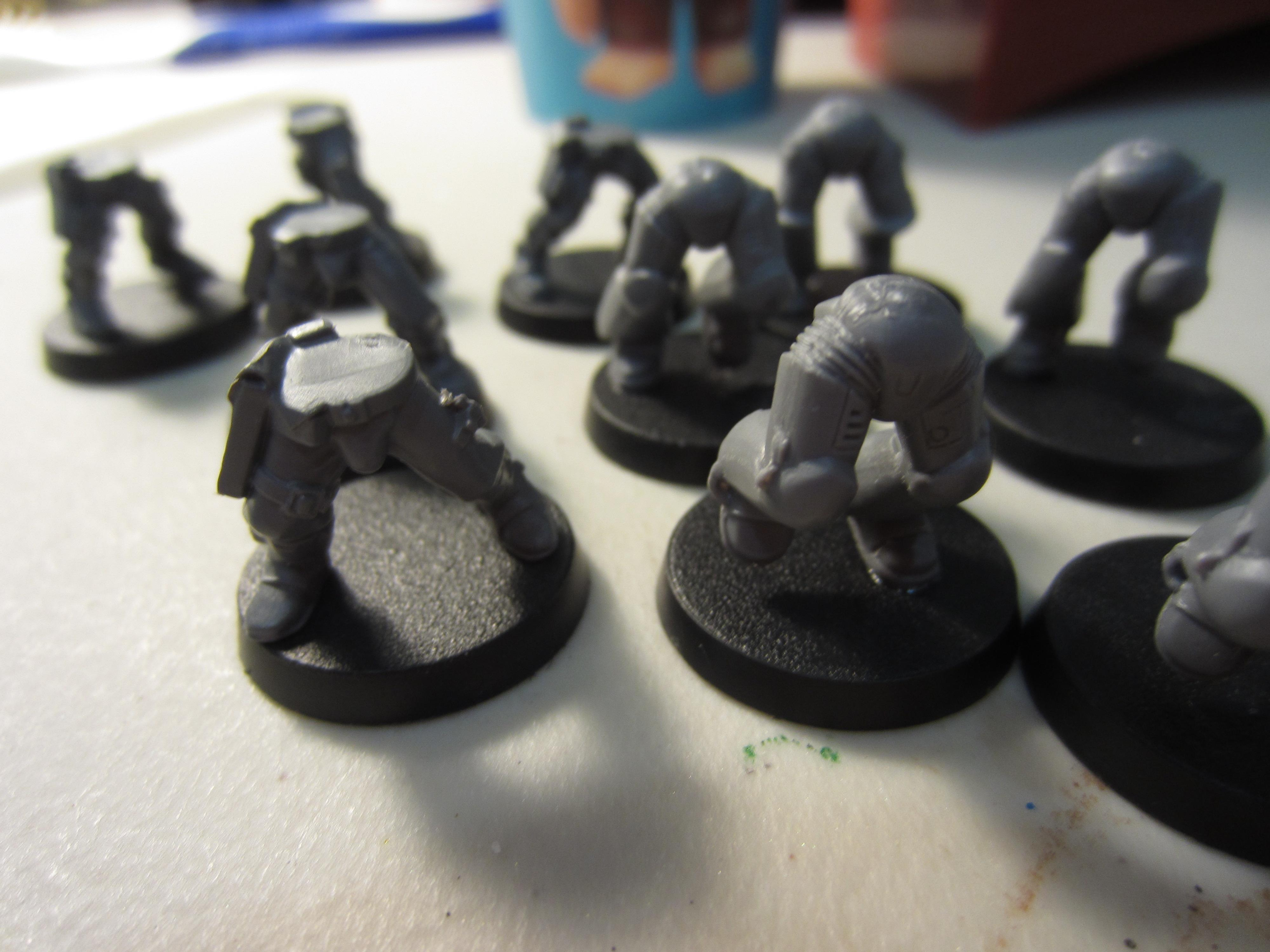 Space Marine scouts and Assault Marines