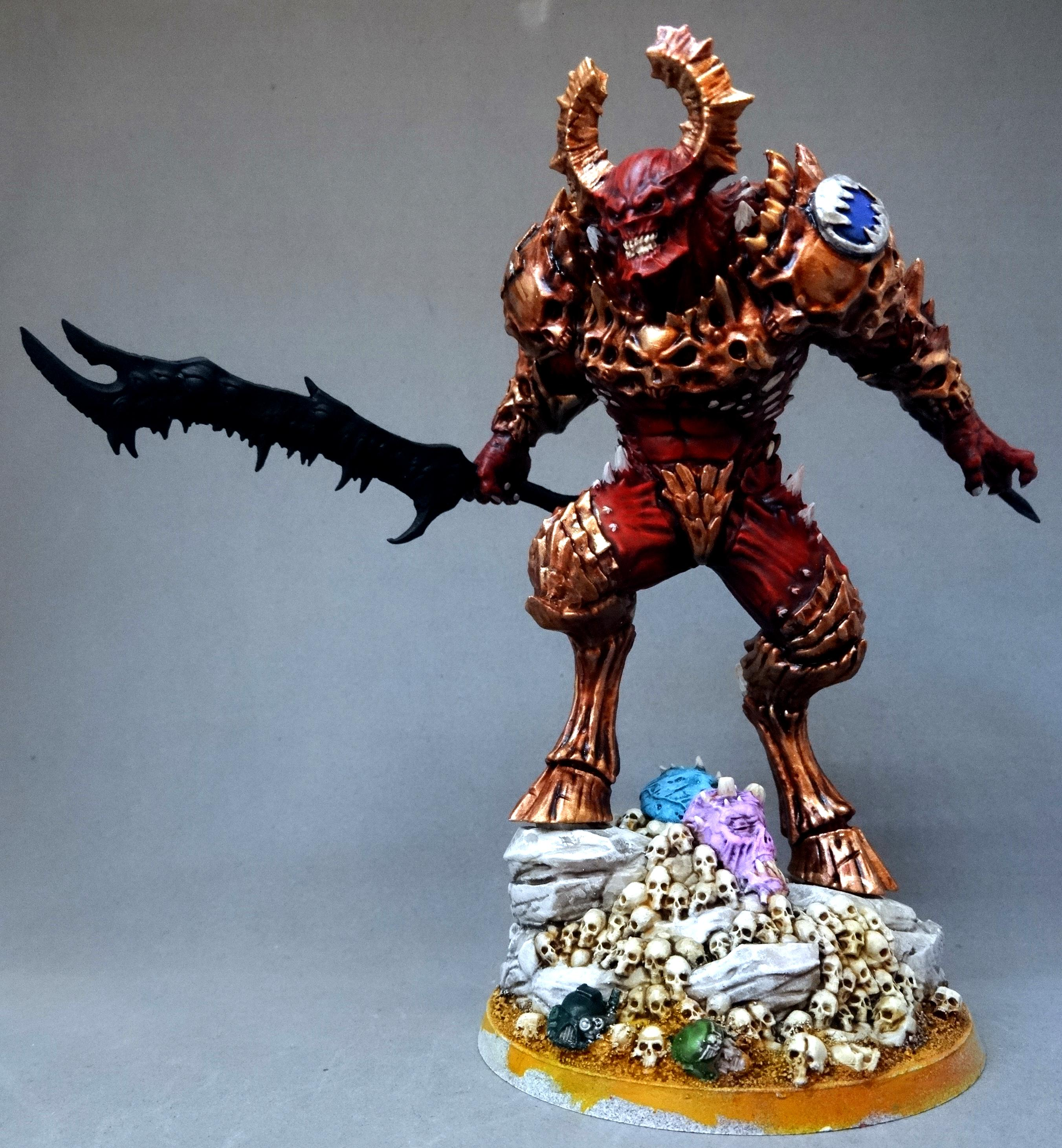Chaos, Chaos Space Marines, Conversion, Creature Caster, Daemon Prince, Daemons, Khorne, World Eaters