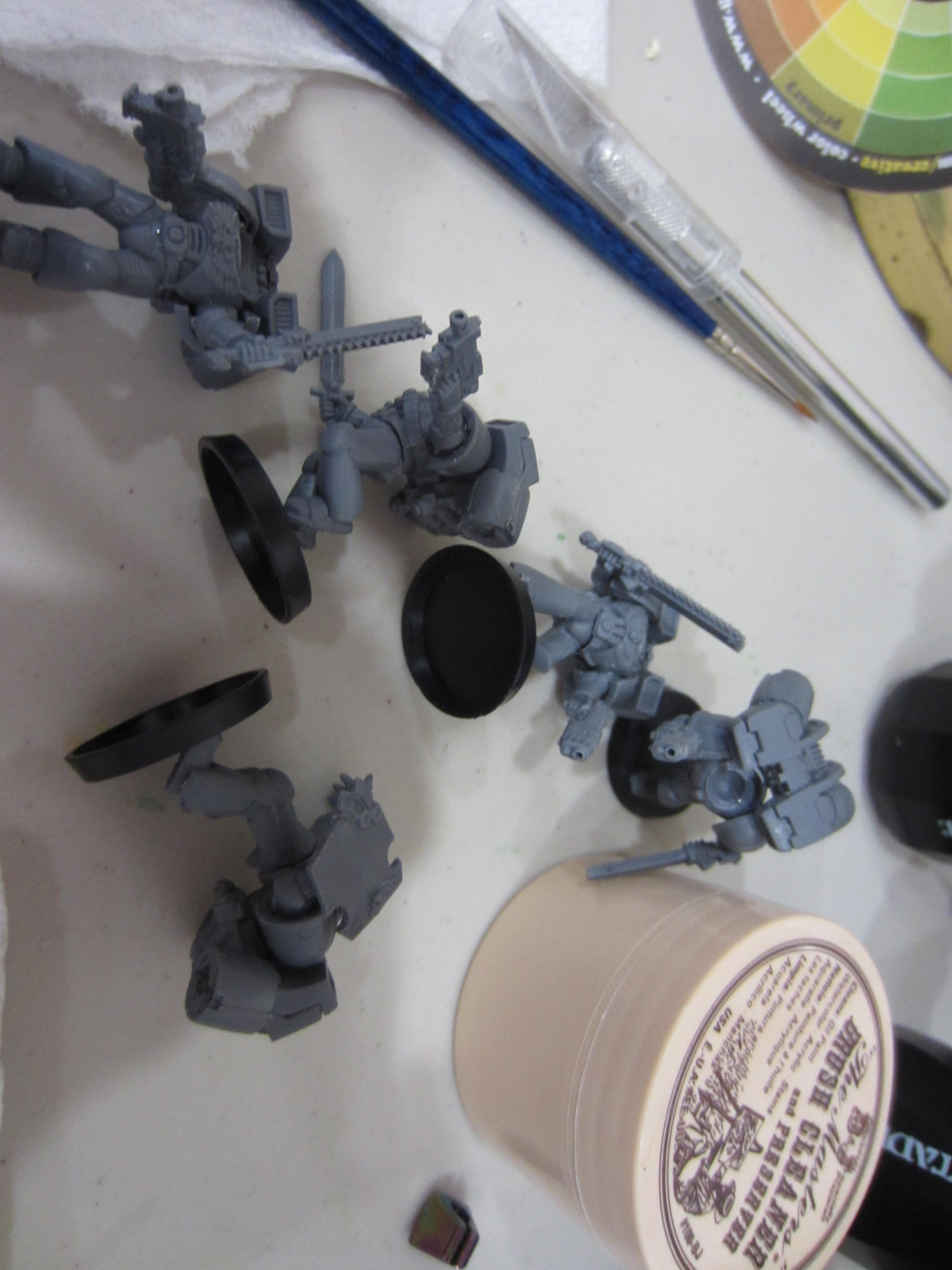 Assault Marines being assembled