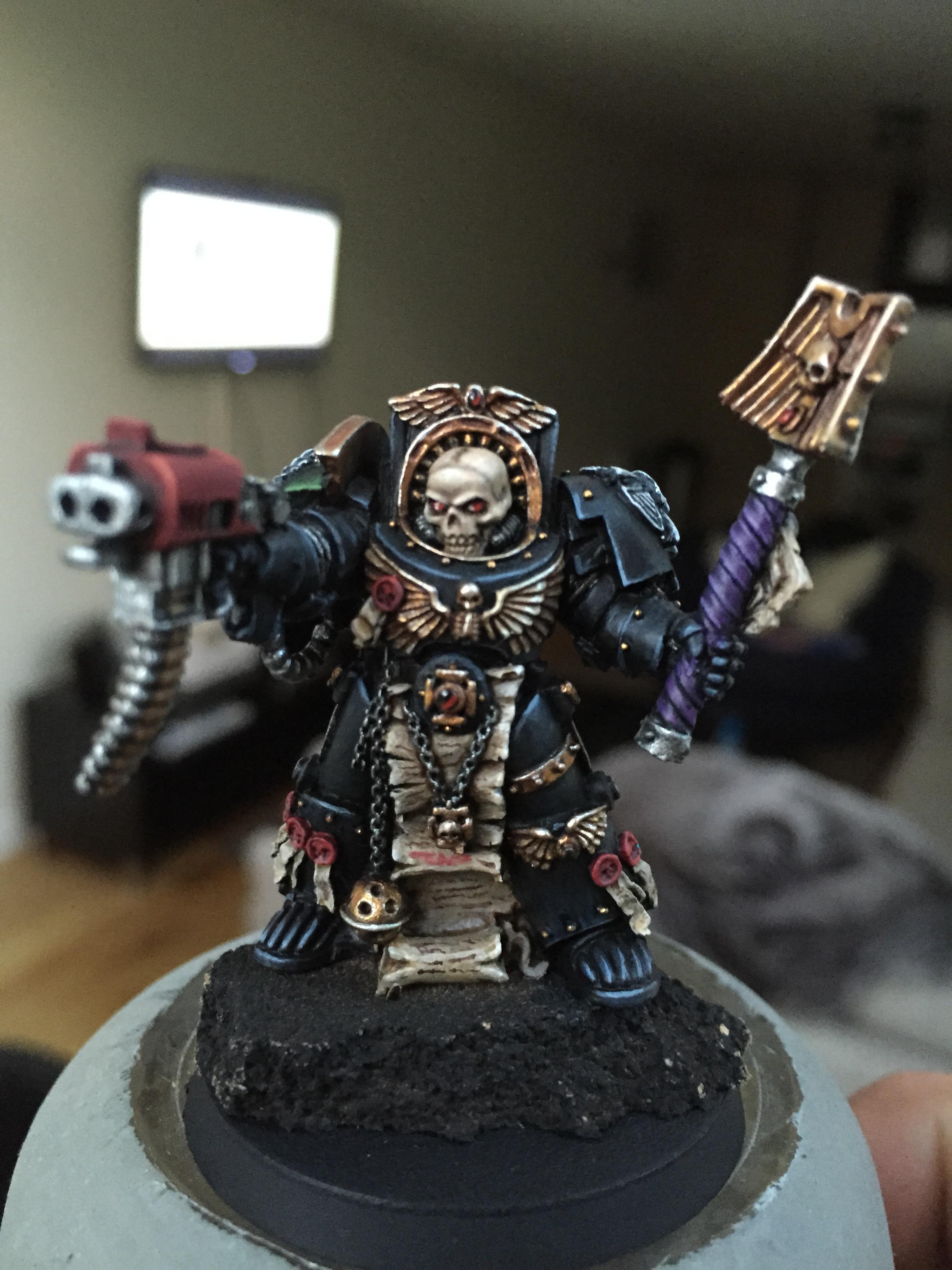 Adeptus Astartes, Chaplain, Space Marines, Terminator Armor, Warhammer 40,000