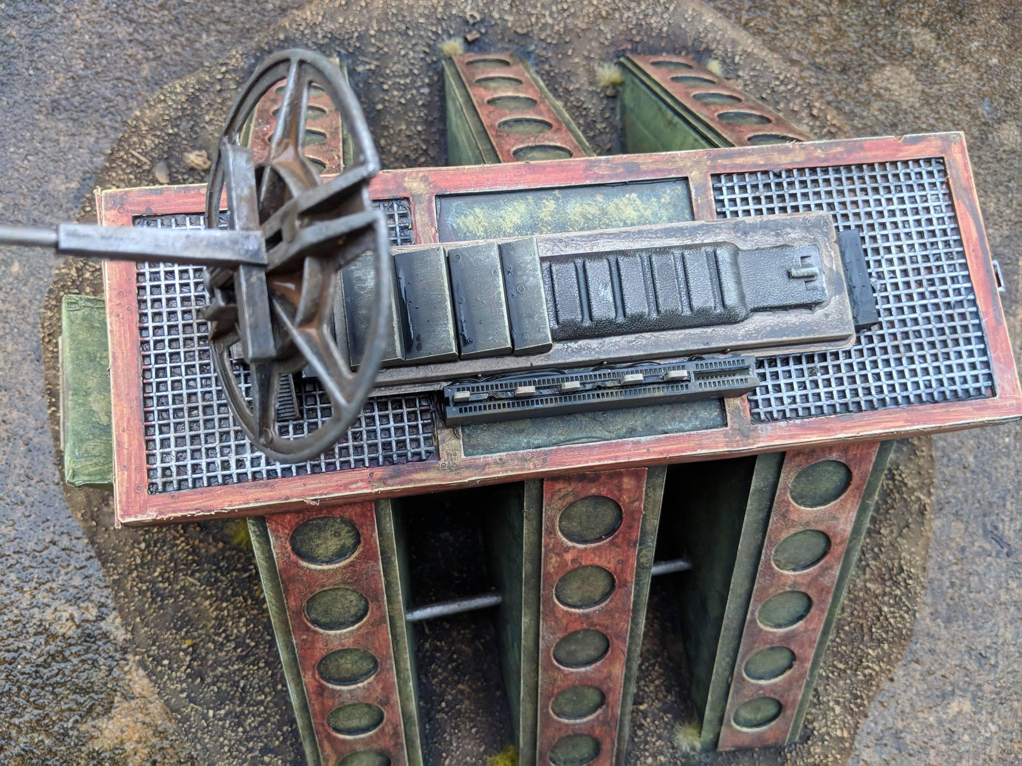 Buildings, Commission, Fallout, Industrial, Post Apoc, Ruins, Scratch Build, Terrain, This Is Not A Test