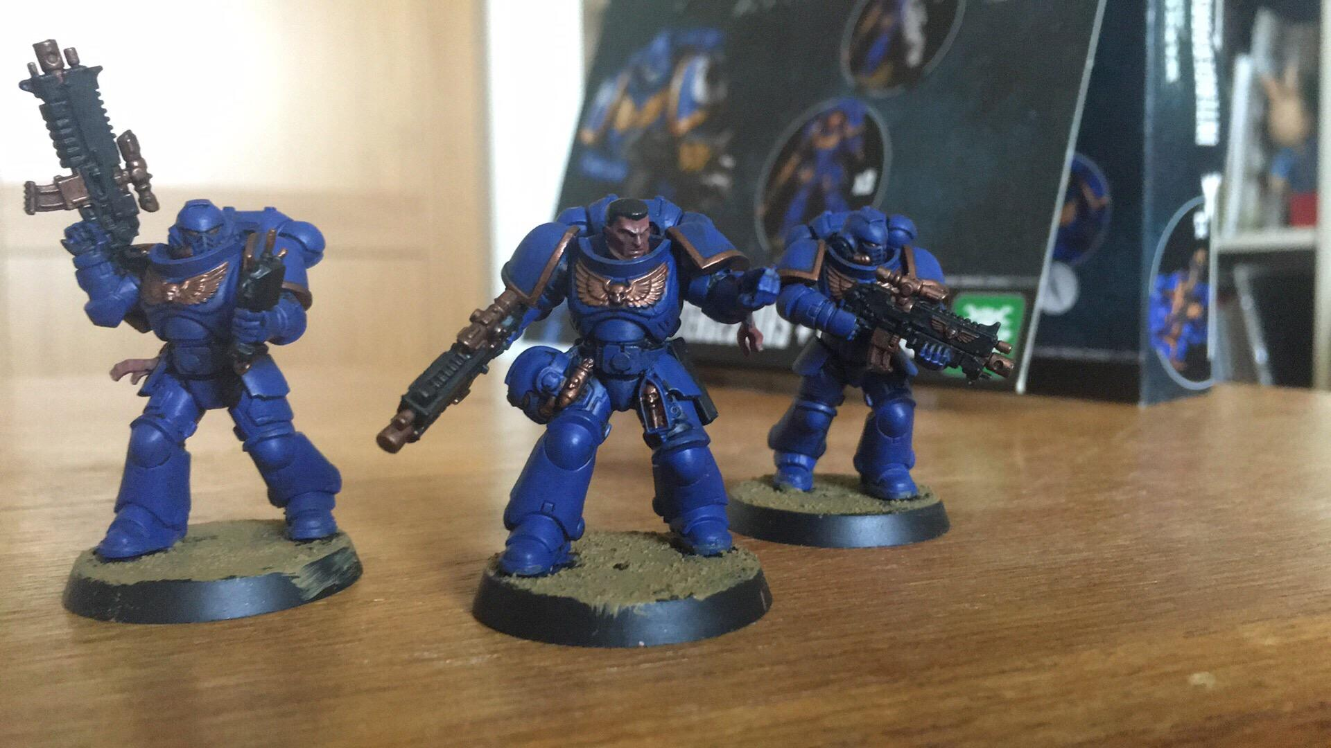 Finished, First, First Try, Proud, Space Marines, Ultramarines