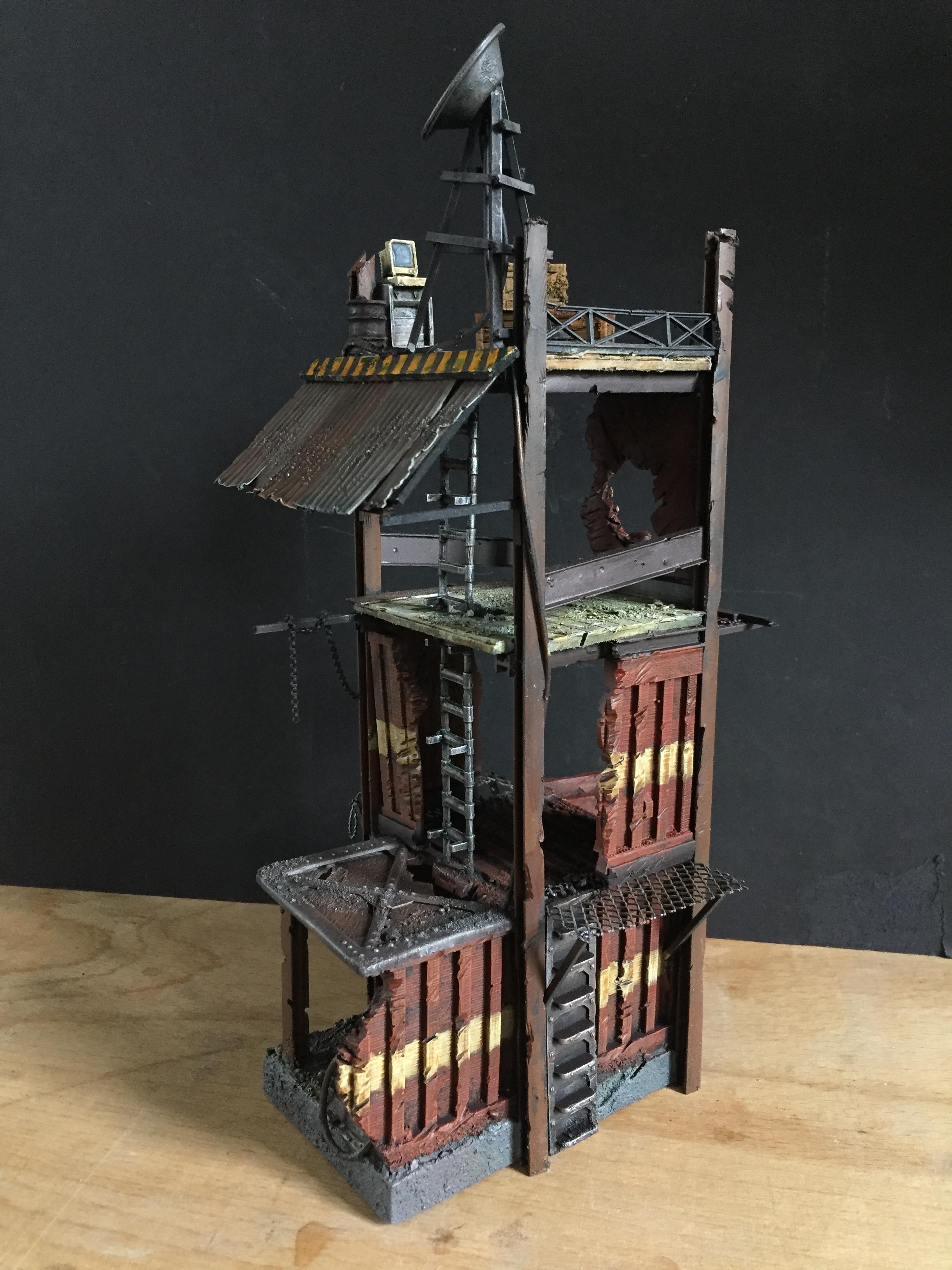 40k Scenery, 40k Terrain, Inq28, Inquisimunda, Necromunda, Necromunda Scenery, Necromunda Terrain, Terrain, Wargame, Warhammer 40,000, Warhammer 40k Scenery, Warhammer 40k Terrain, Watchtower
