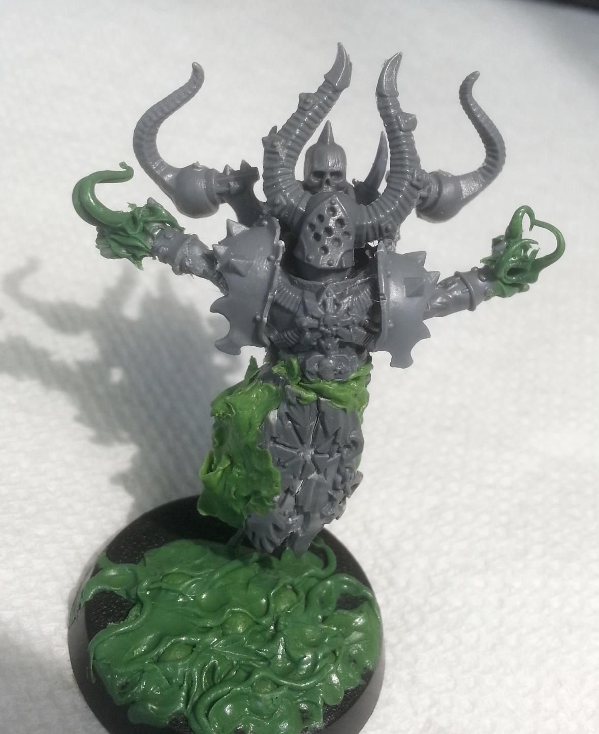 Chaos, Chaos Space Marines, Conversion, Sorcerer, Work In Progress