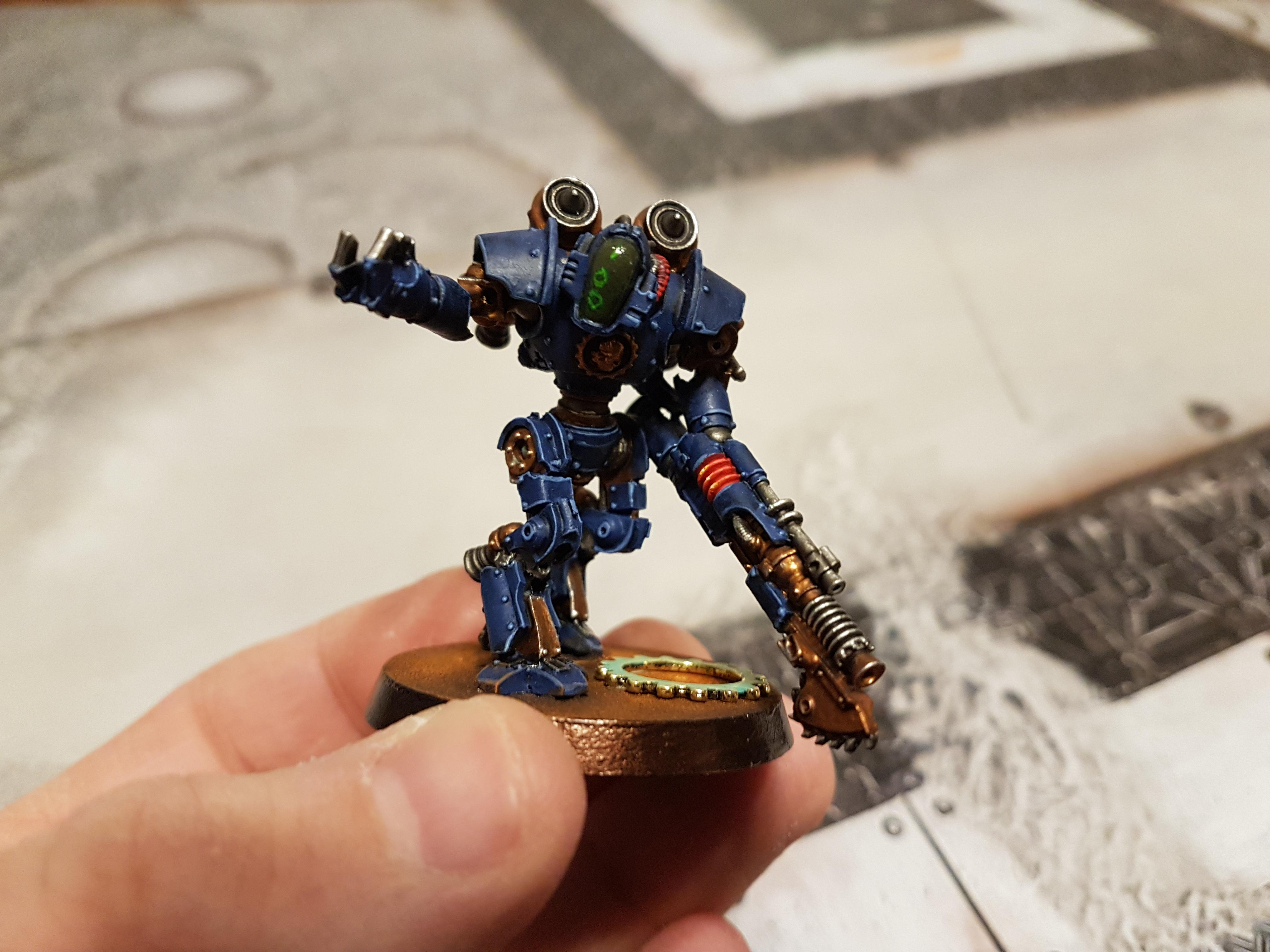 Blue, Chainblade, Konor, Lighting Gun, Mechanicum, Mechanicum Thallax Cohort, Thallax, Thallax Cohort