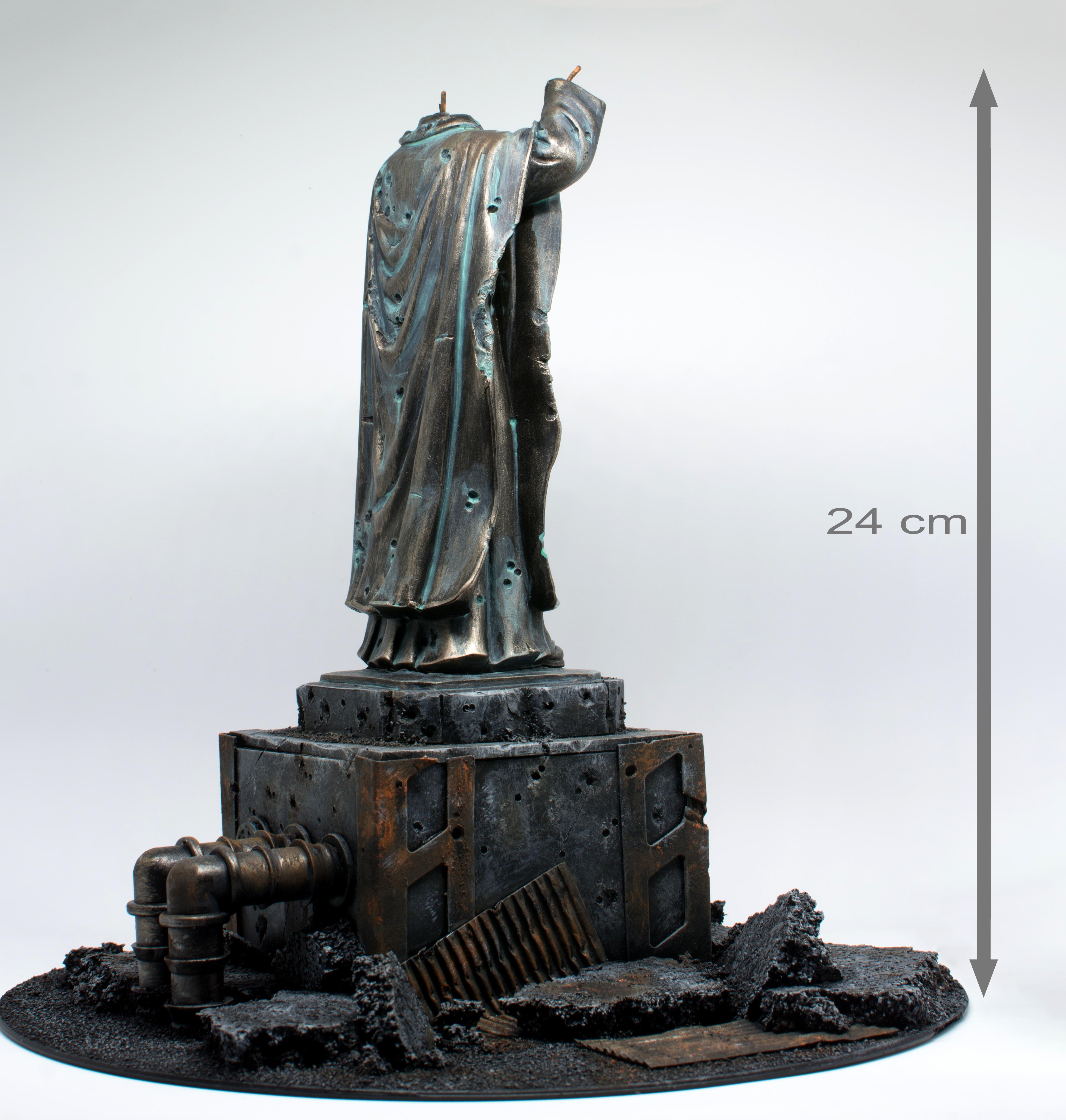 Copper, Craft, Décor, Imperialis Sector, Imperium, Monument, Necromunda, Rubble, Ruins, Rust, Set, Statue, Terrain, Warhammer 40,000
