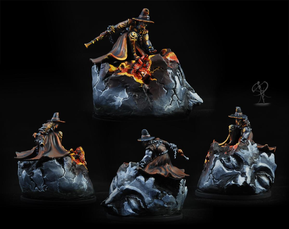 Death Marshal, Kingdom Death, Malifaux, Non-Metallic Metal, Object Source Lighting, Western