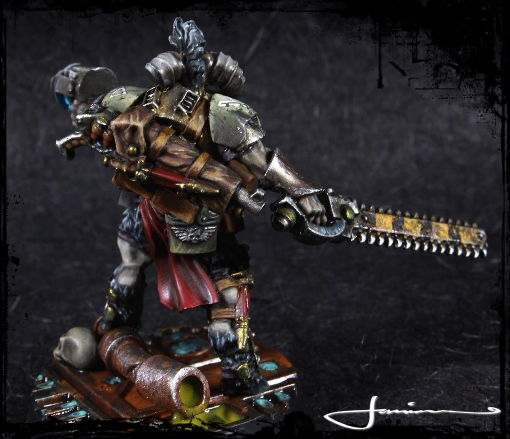 Beastmen, Bounty Hunter, Gor Half-horn, Necromunda, Warhammer 40,000