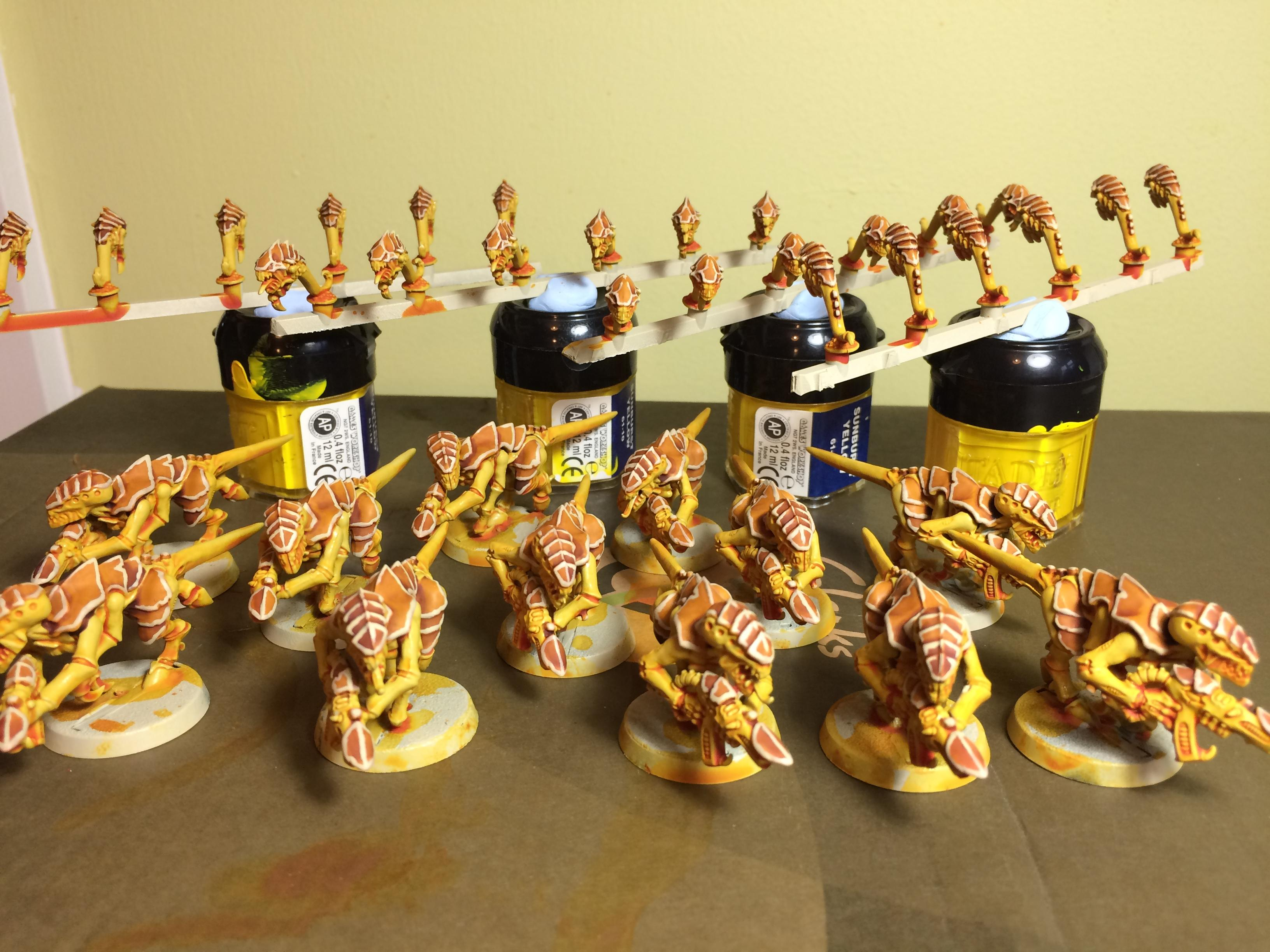 Gaunts, Ripper Swarms, Tyranids, Yellow