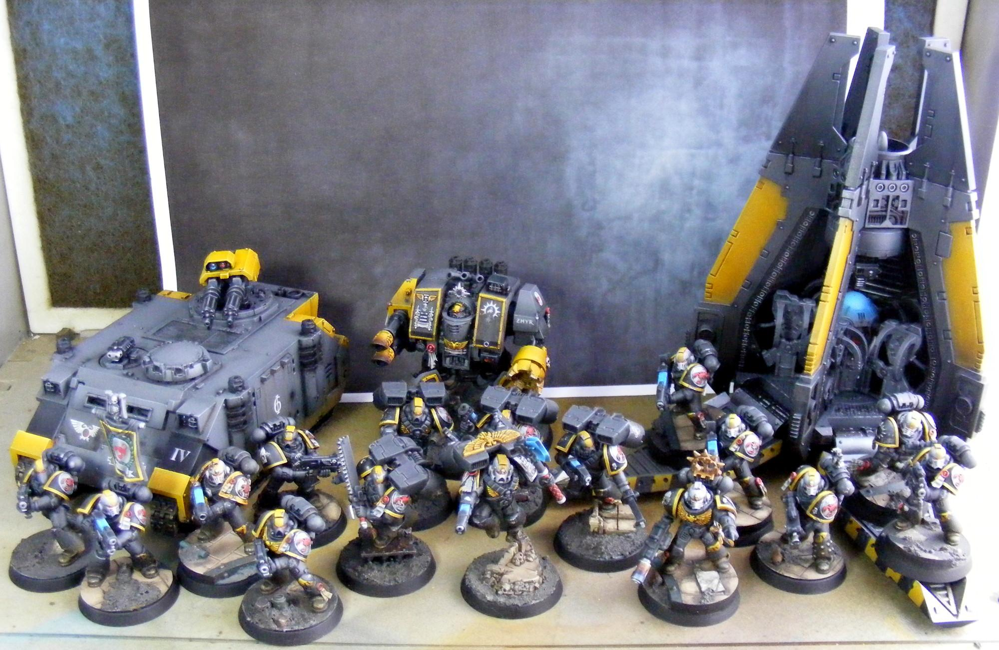Army, Dreadnought, Drop Pod, Razorback, Red Scorpions, Space Marines