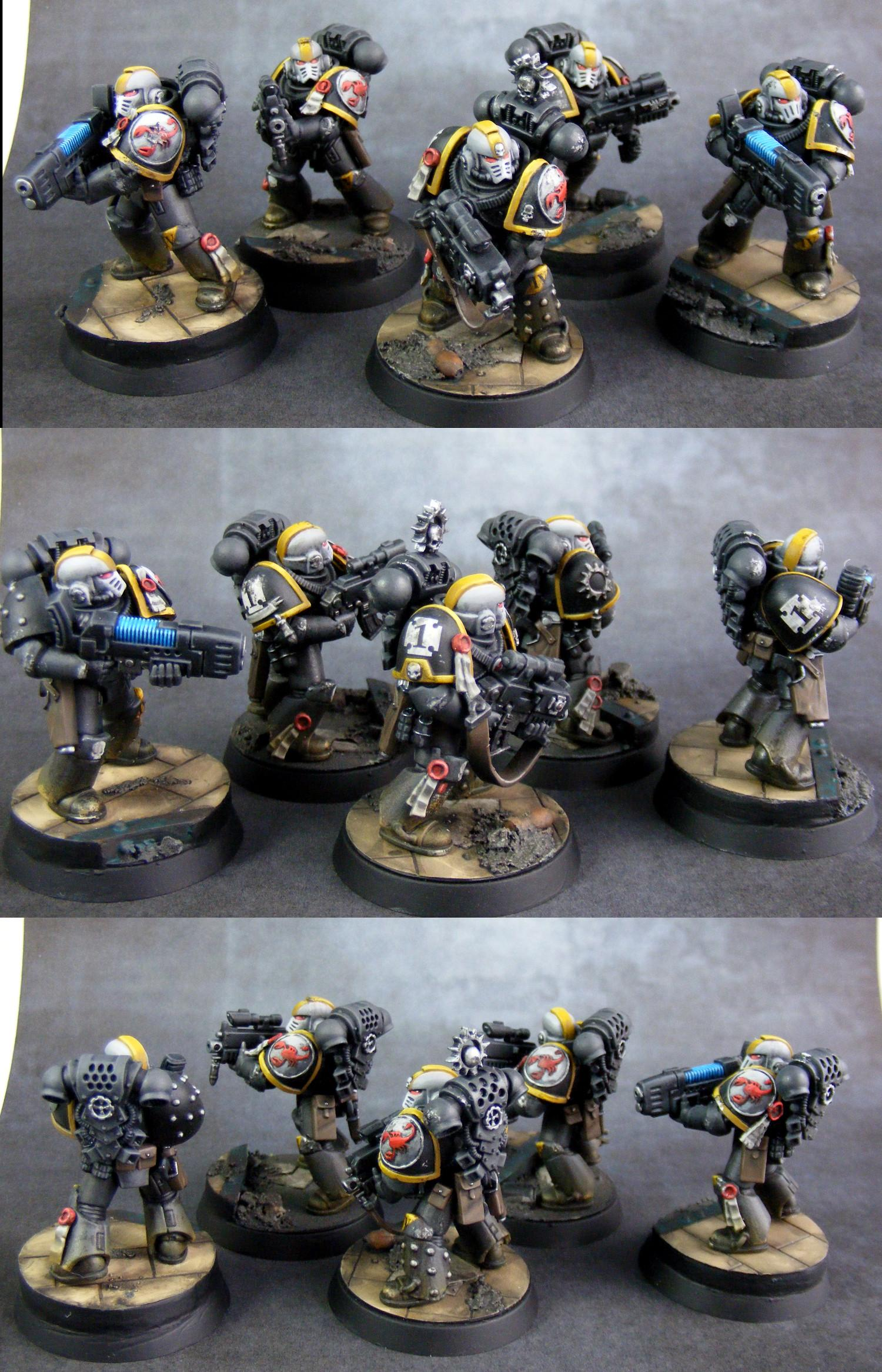 Conversion, Red Scorpions, Space Marines, Sternguard, Warhammer 40,000