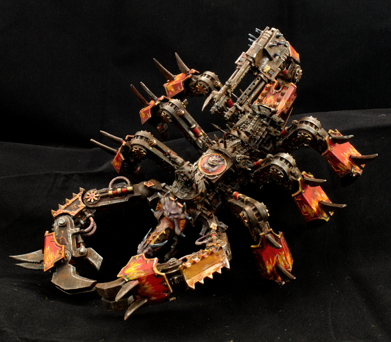 Chaos Space Marines, Conversion, Daemon Engine, Greater Brass Scorpion, Khorne, Model Shelter