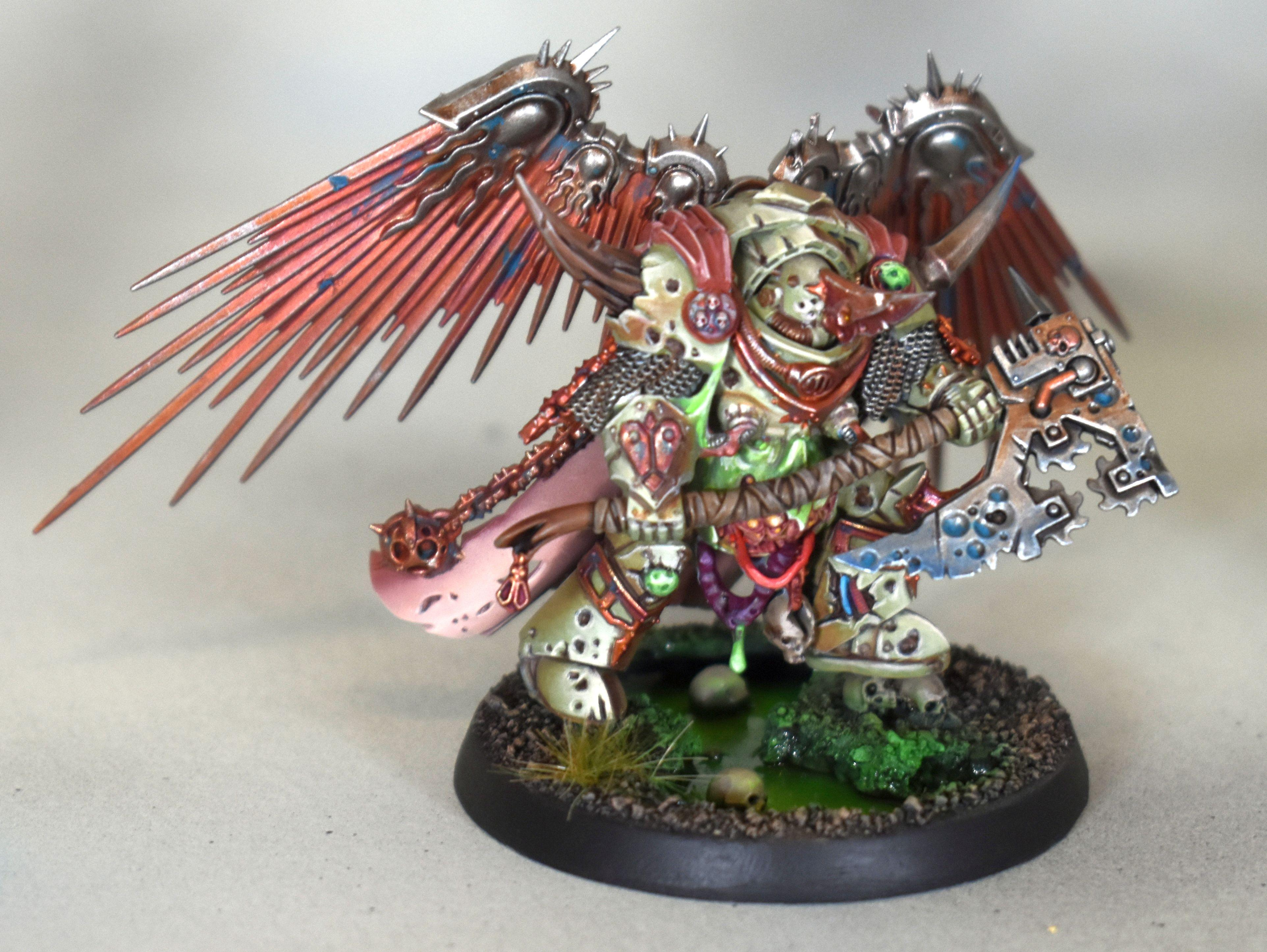 Axe, Chaos, Lord Of Contagion, Nurgle, Space, Space Marines