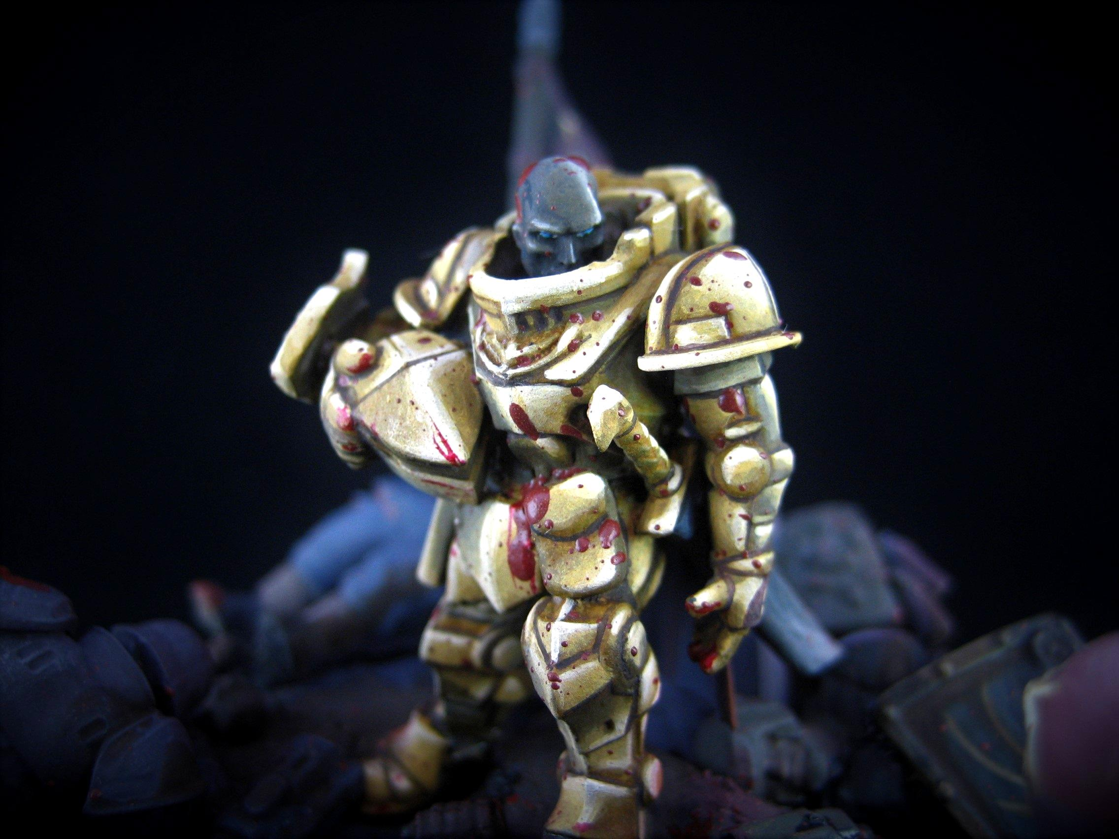 Blood, Dead, Diorama, Final Stand, Imperial Guard, Orks, Space Marines, To The Bitter End