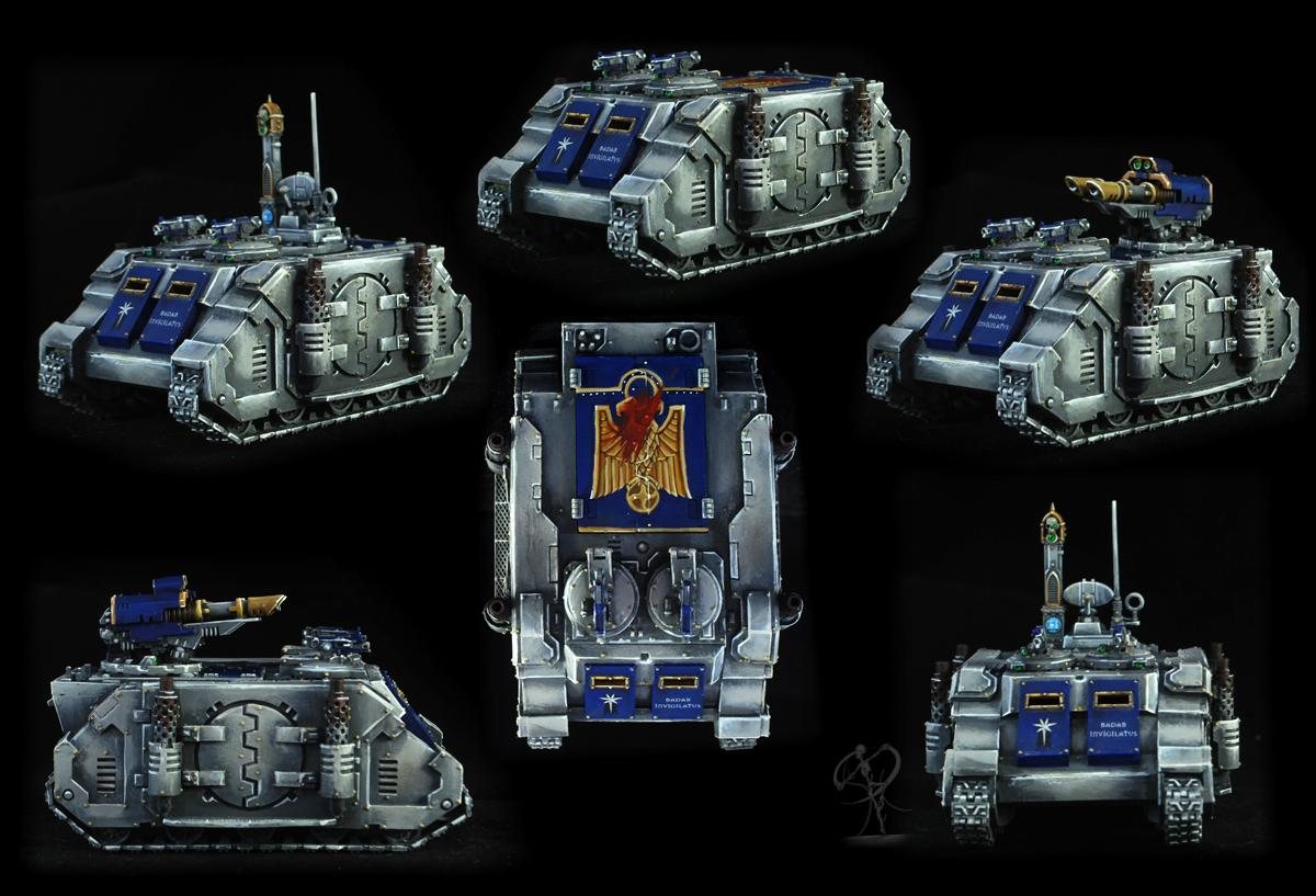 Astral Claws, Badab, Conversion, Non-Metallic Metal, Razorback, Rhinos, Science-fiction, Space Marines, Warhammer 40,000