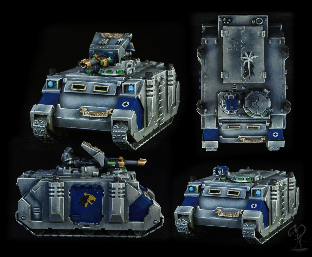 Astral Claws, Badab, Conversion, Non-Metallic Metal, Razorback, Rhinos, Science-fiction, Space Marines, Warhammer 40,000