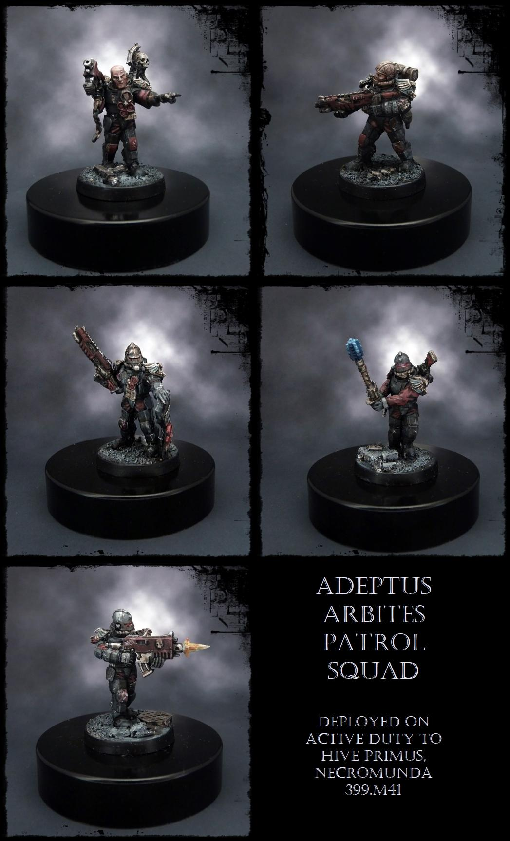 Adeptus Arbites, Alternative Models, Anvil, Enforcers, Necromunda, Warhammer 40,000