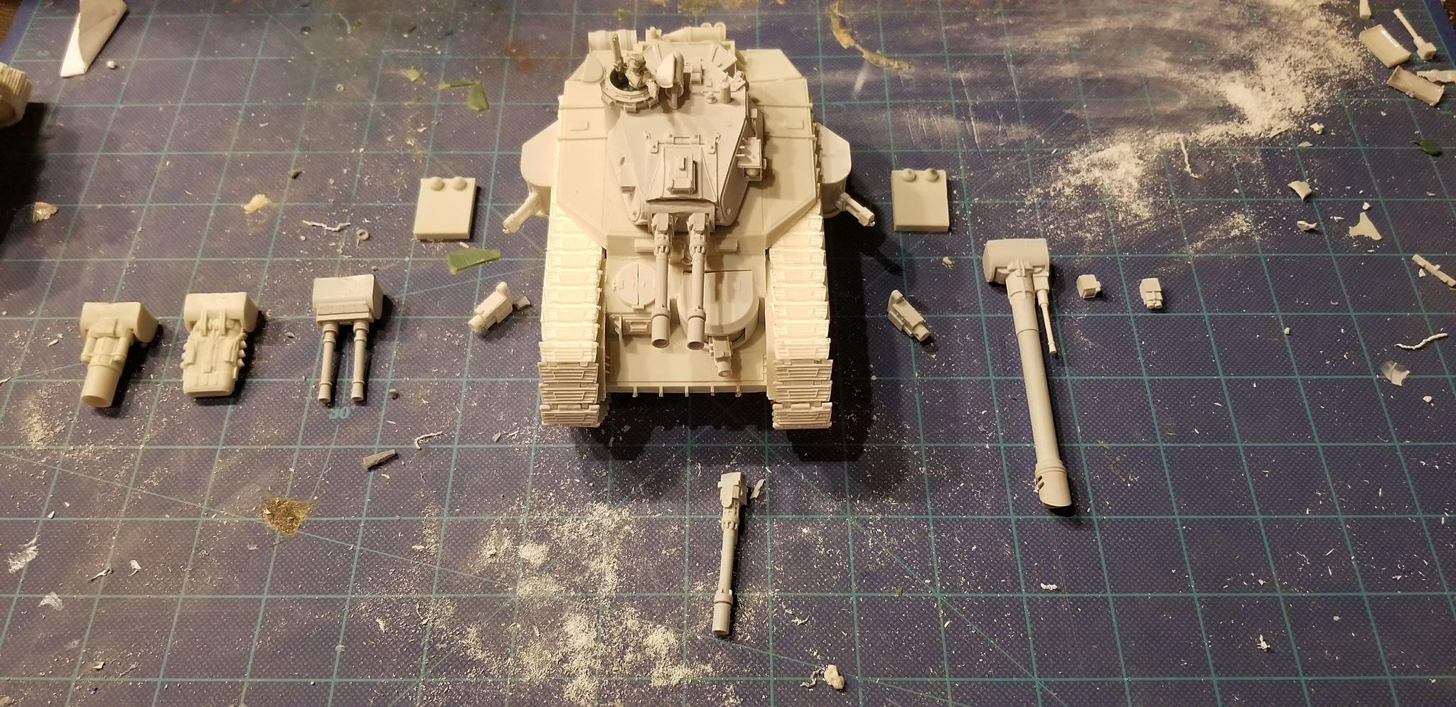 And a bit of a glamor shot.  If anyone else has these tanks and needs assembly advice, let me know!  I've got 6 more to assemble, and can post a guide