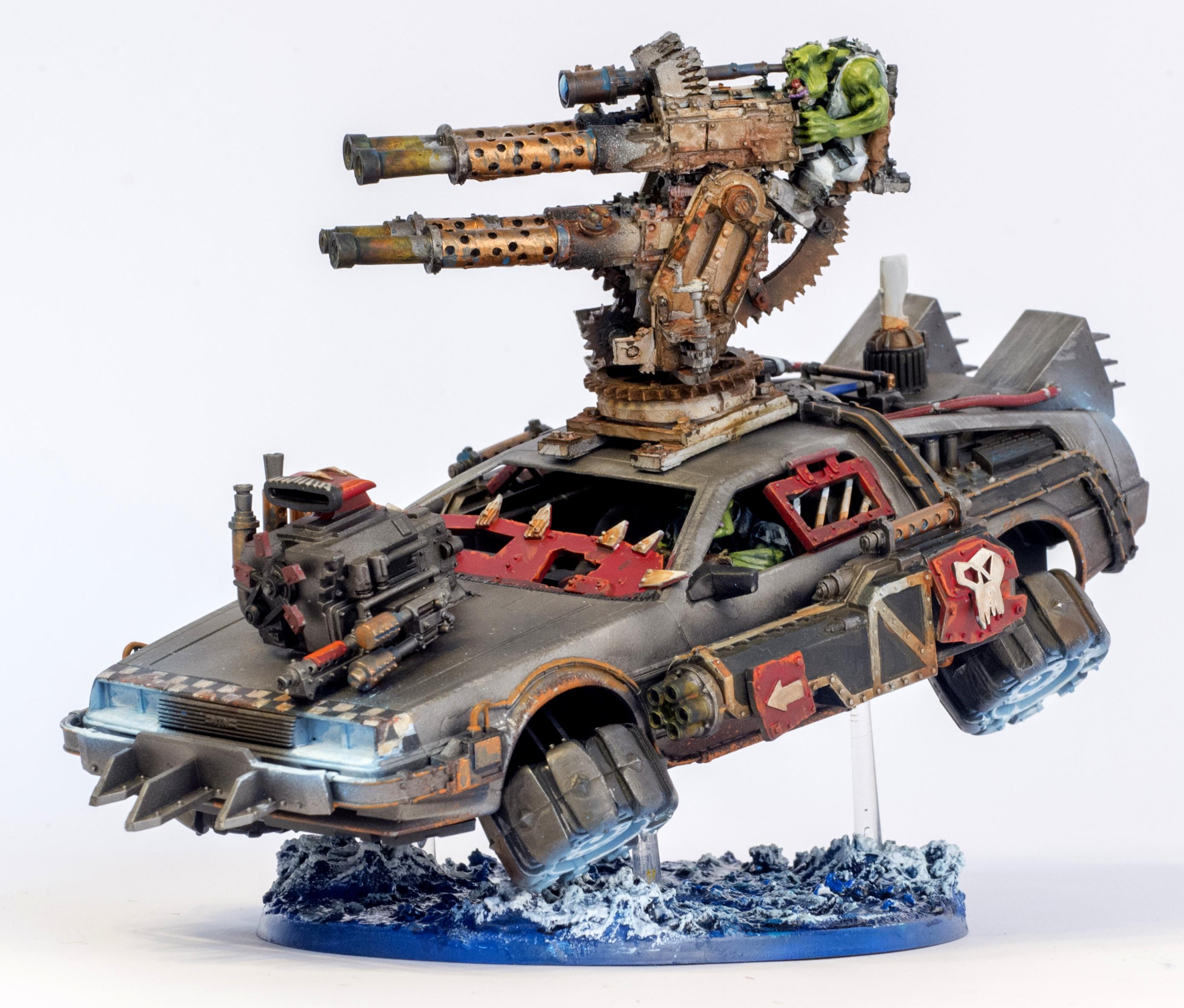 Back To The Future, Delorian, Flying, Hover, Looted, Orks