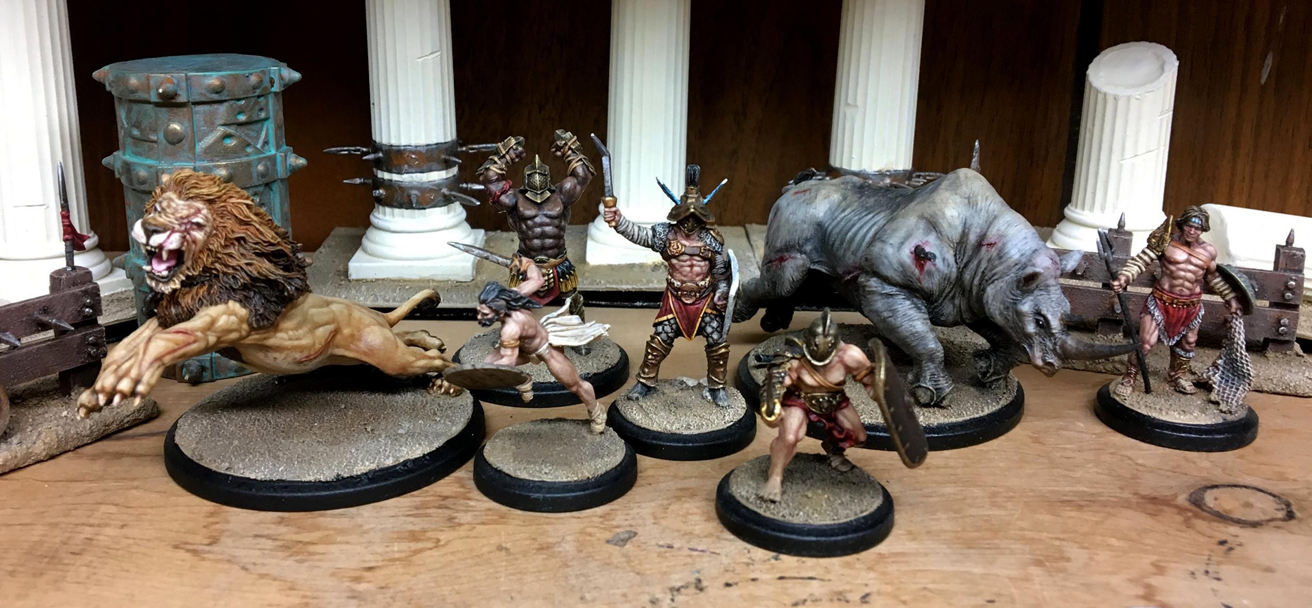 Acerbus, Arena Rex, Beast, Cestus, Gladiator, Gladiators, Hermes, Leo, Lion, Ludus Magnus, Marcus Furius, Micon, Noxius, Red Republic Games, Retiarius, Rhino, Urbicus