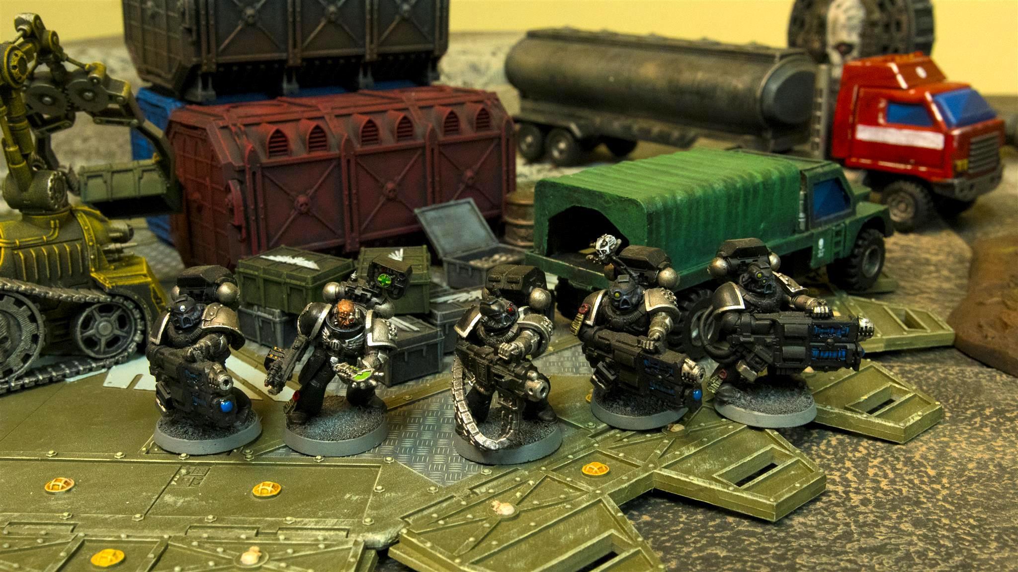 Cargo, Deathwatch, Deathwatch Blackshields, Space Marines, Truck