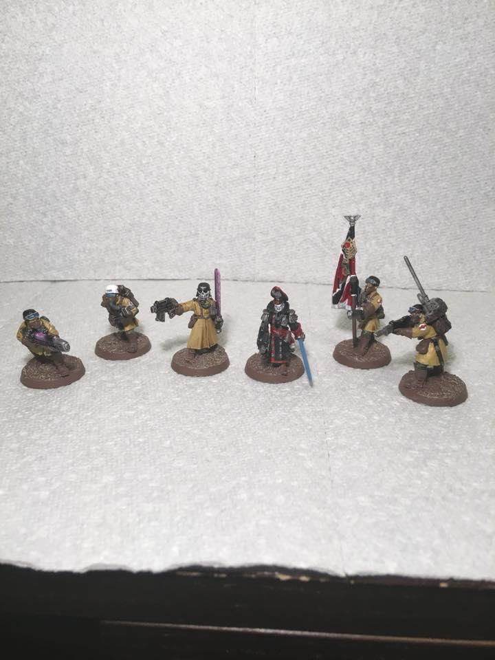 Banner, Command Squad, Imperial Guard, Medic, Steel Legion, Vox