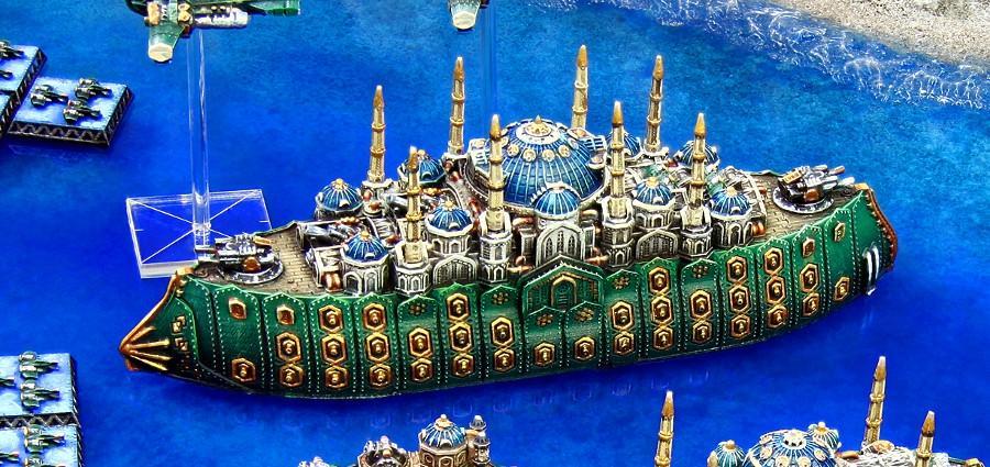 Battleship, Copyright Spartan, Dreadnought, Dystopian Legions, Dystopian Wars, Mosque, Ottoman, Out Of Production, Spartan Games, Steampunk
