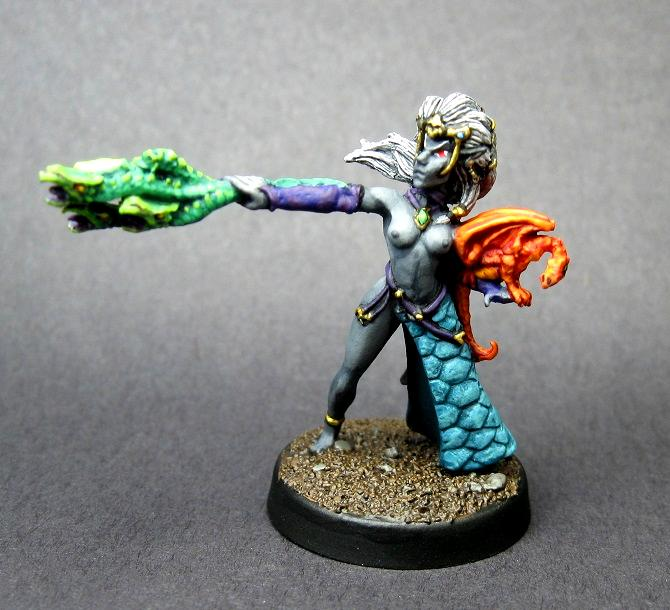 Avatars Of War, Carrero Arts, Carreroarts, Dark Elves, Female, Sorceress