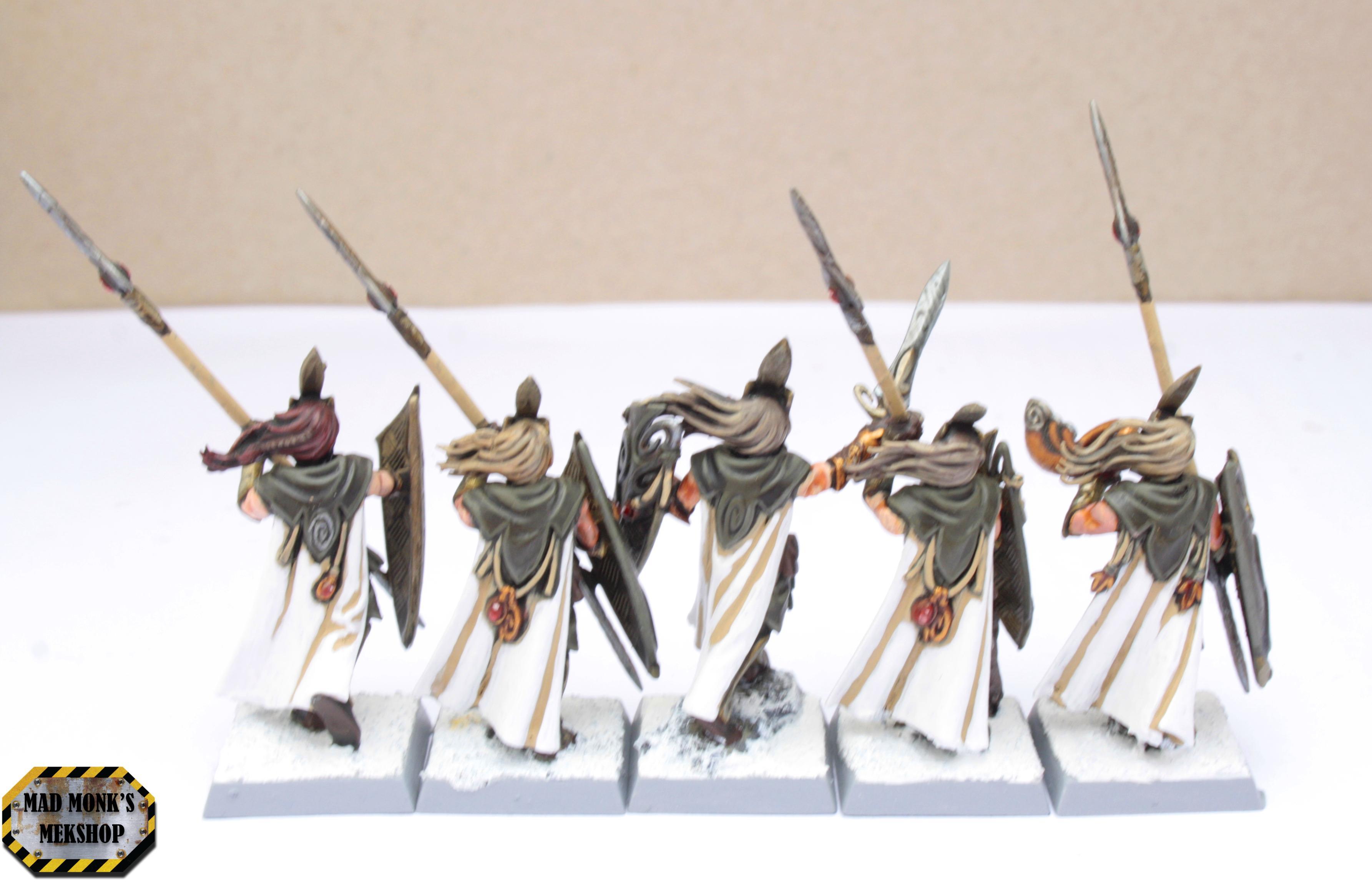 Cloaks, Elves, High, Regiment, Spearmen