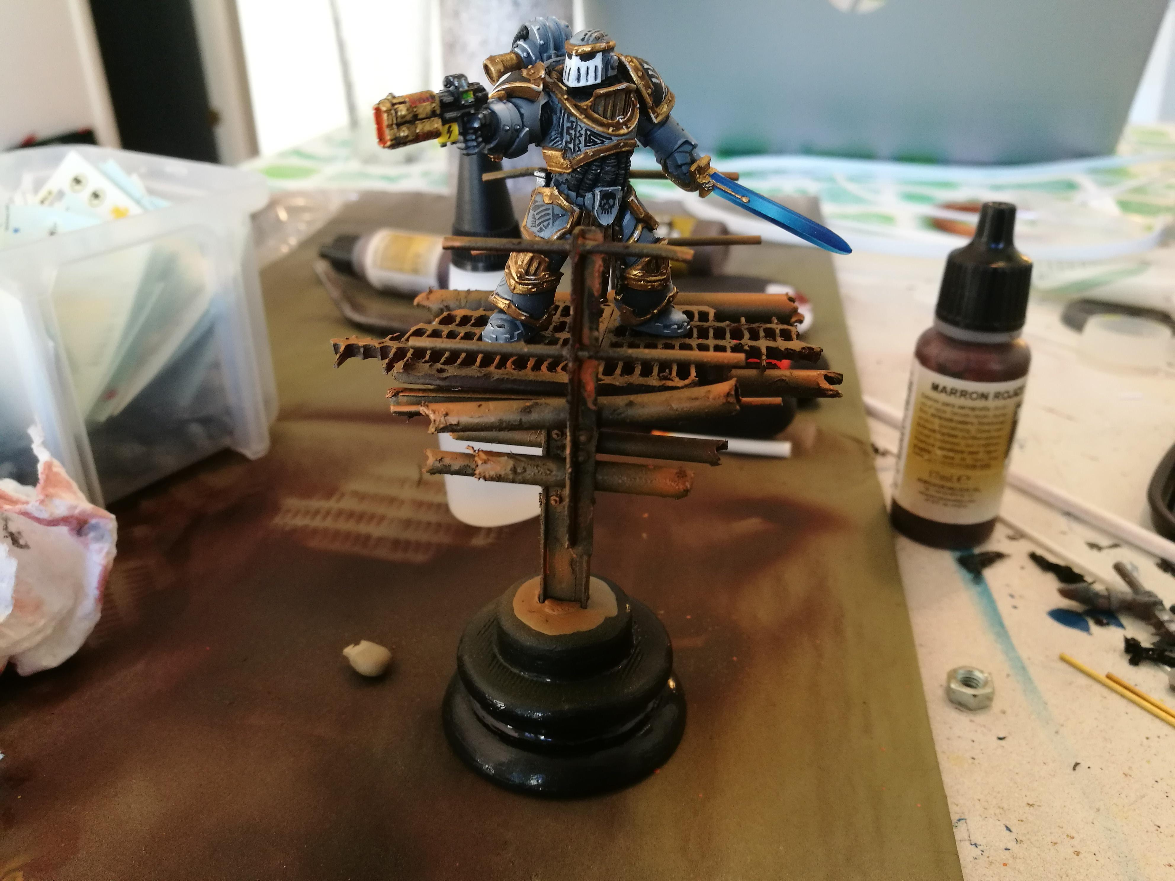 Carcharodons, Display Miniature, Space Marines, Warhammer 40,000, Work In Progress