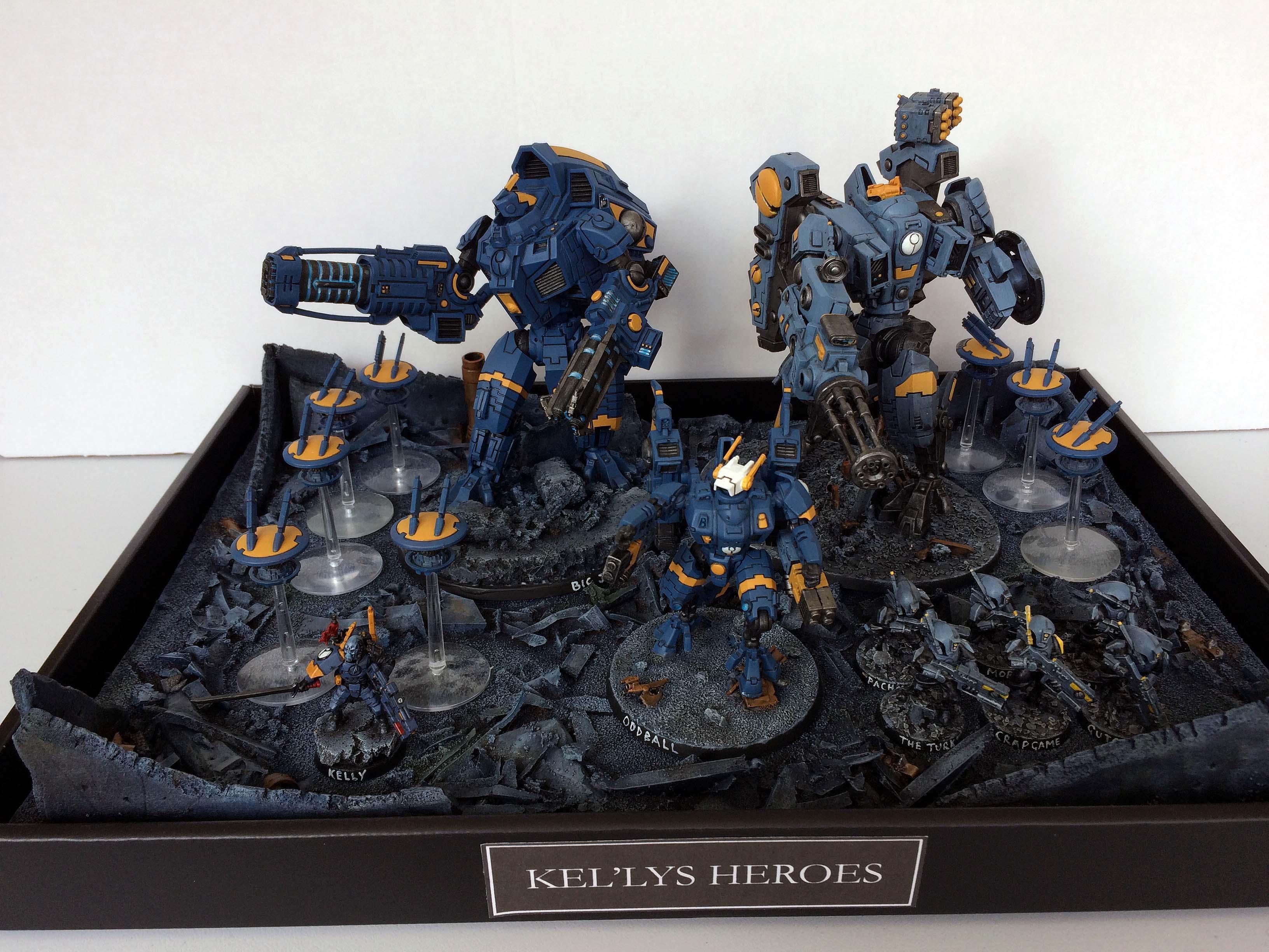 Battlesuit, Coldstar Commander, Riptide, T'au, Tau, Y'vahra